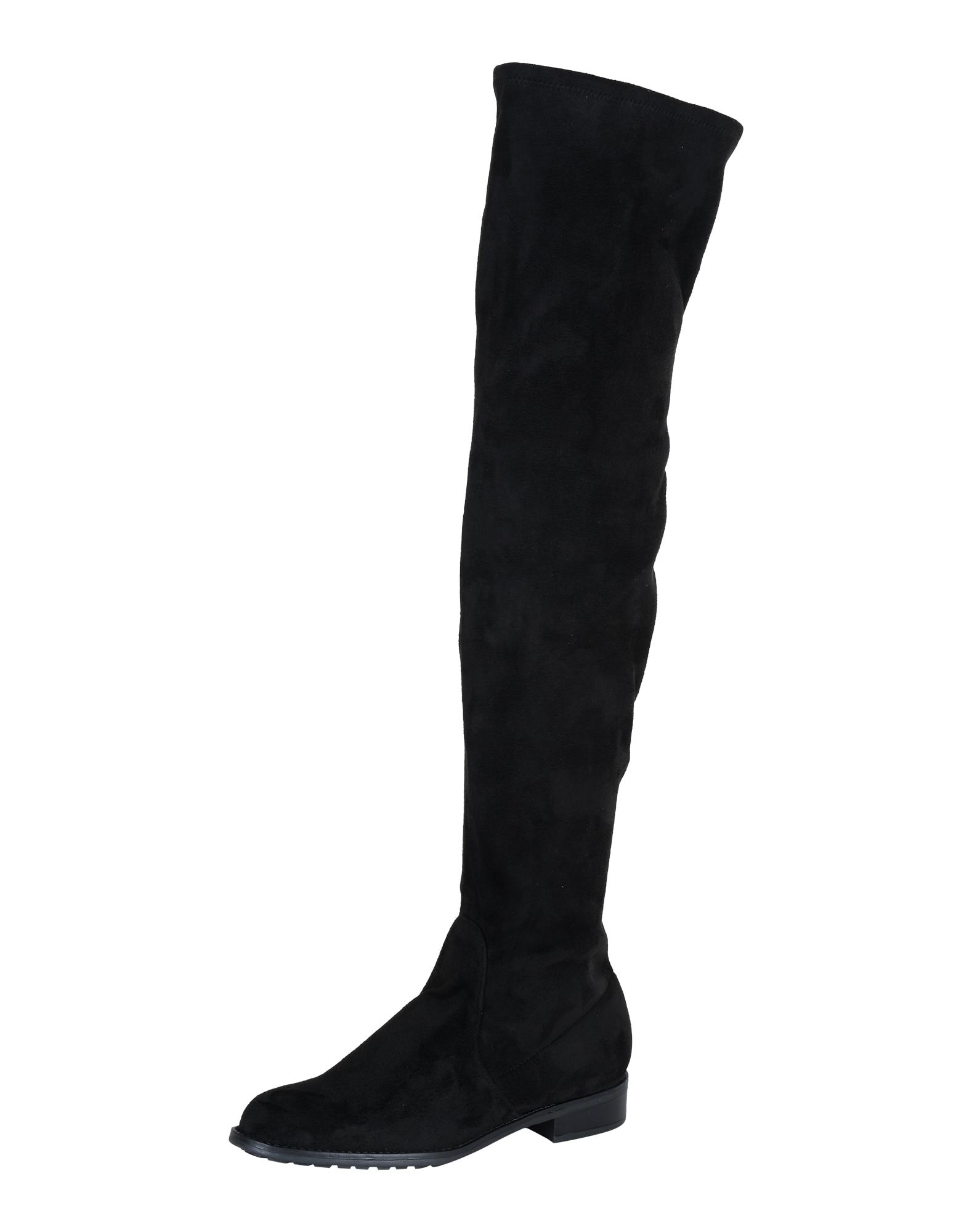 Kozačky nad kolena Stevy černá ESPRIT