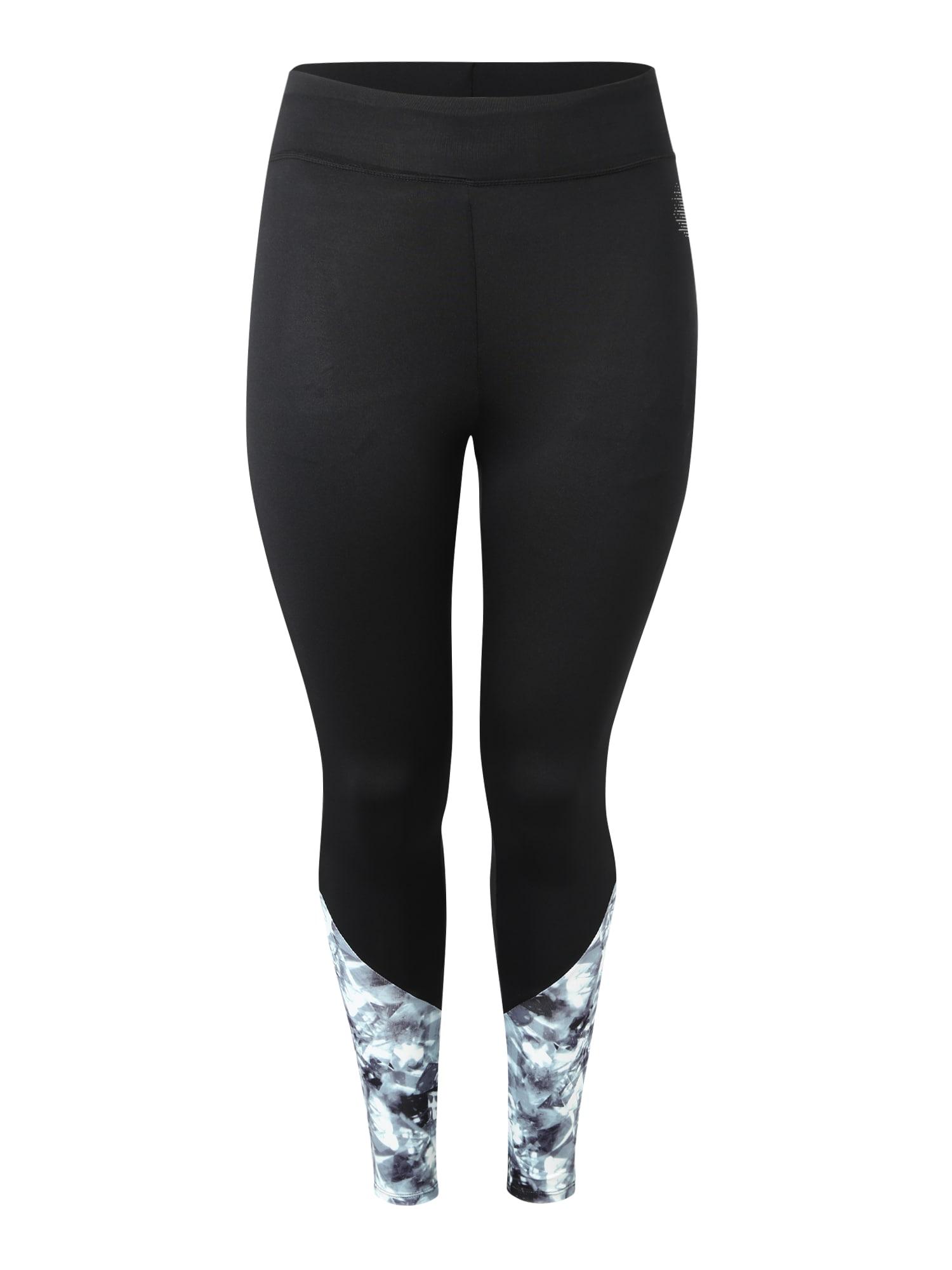 Sportovní kalhoty ADIAMONT světle šedá černá Active By Zizzi