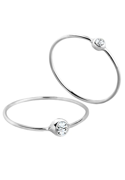 Ringe für Frauen - ELLI Ring 'Solitär Ring' silber  - Onlineshop ABOUT YOU