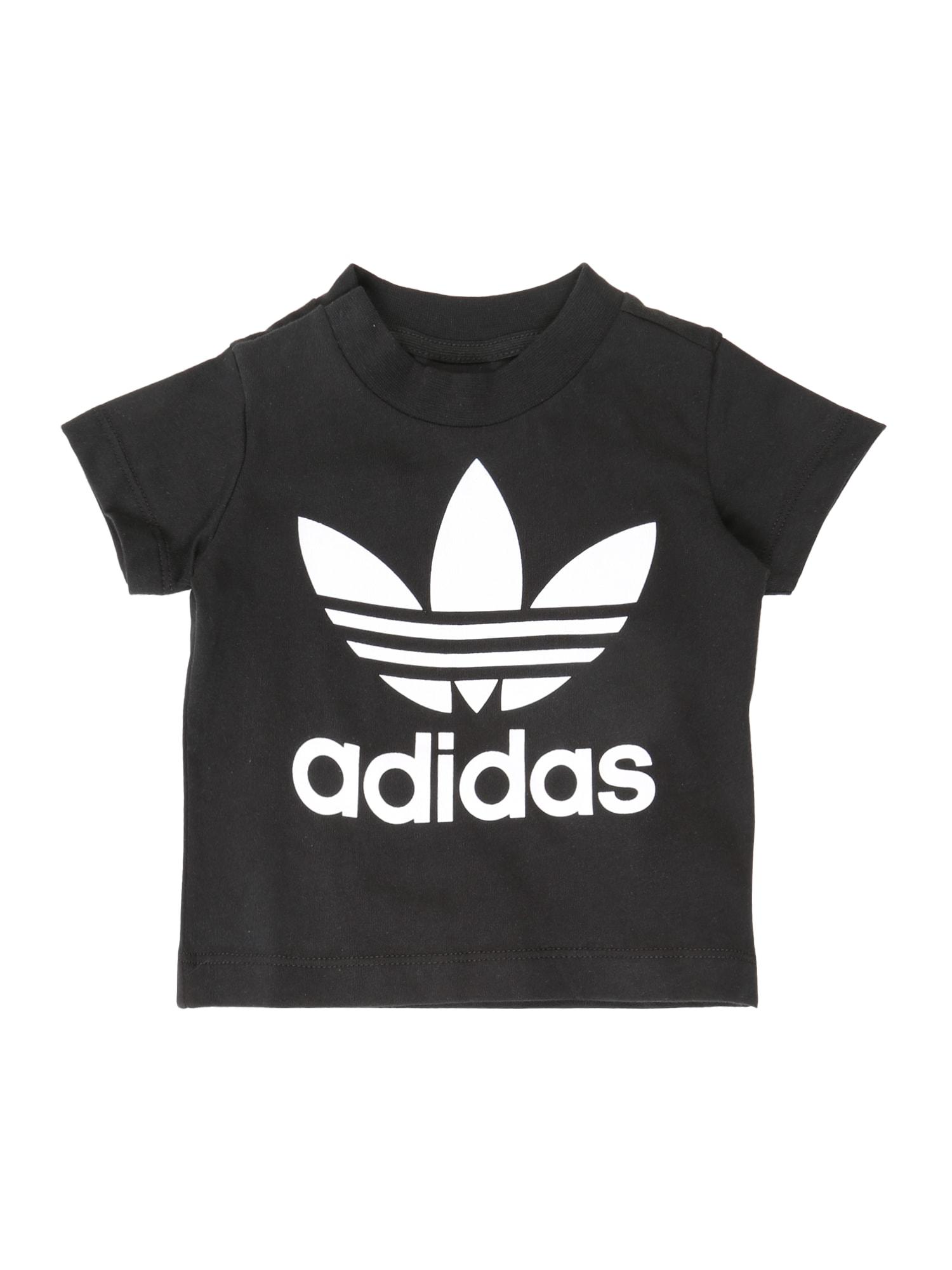 ADIDAS ORIGINALS Marškinėliai juoda / balta