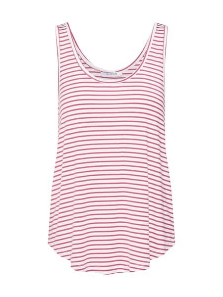 Oberteile für Frauen - PIECES Shirt weinrot weiß  - Onlineshop ABOUT YOU