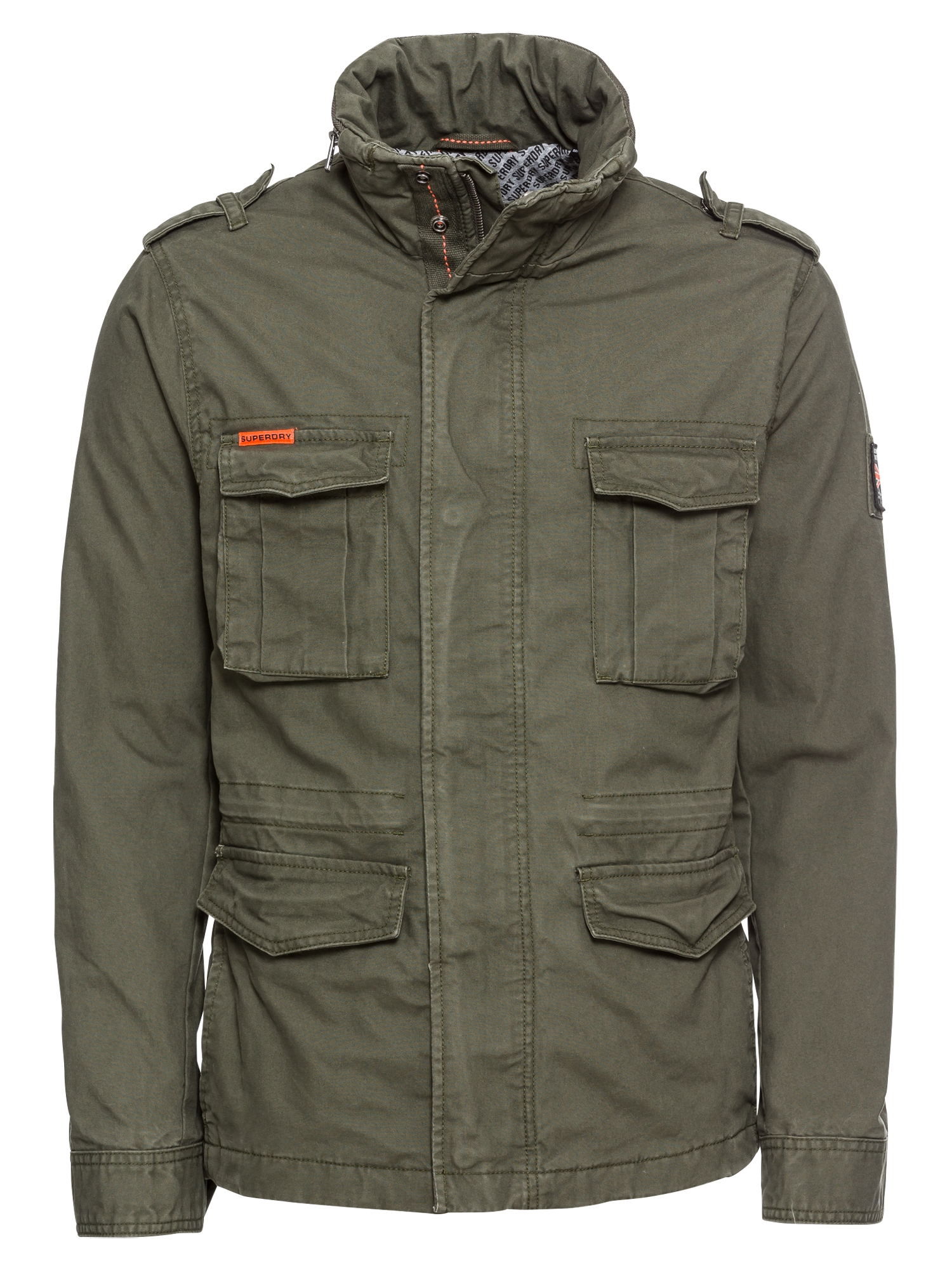 Přechodná bunda CLASSIC ROOKIE MILITARY JACKET khaki Superdry