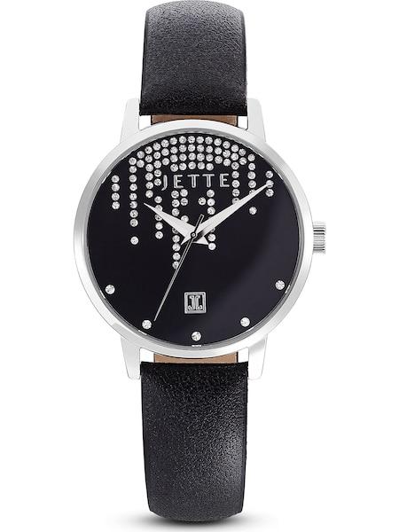 Uhren für Frauen - JETTE Uhr 'Time' schwarz silber  - Onlineshop ABOUT YOU