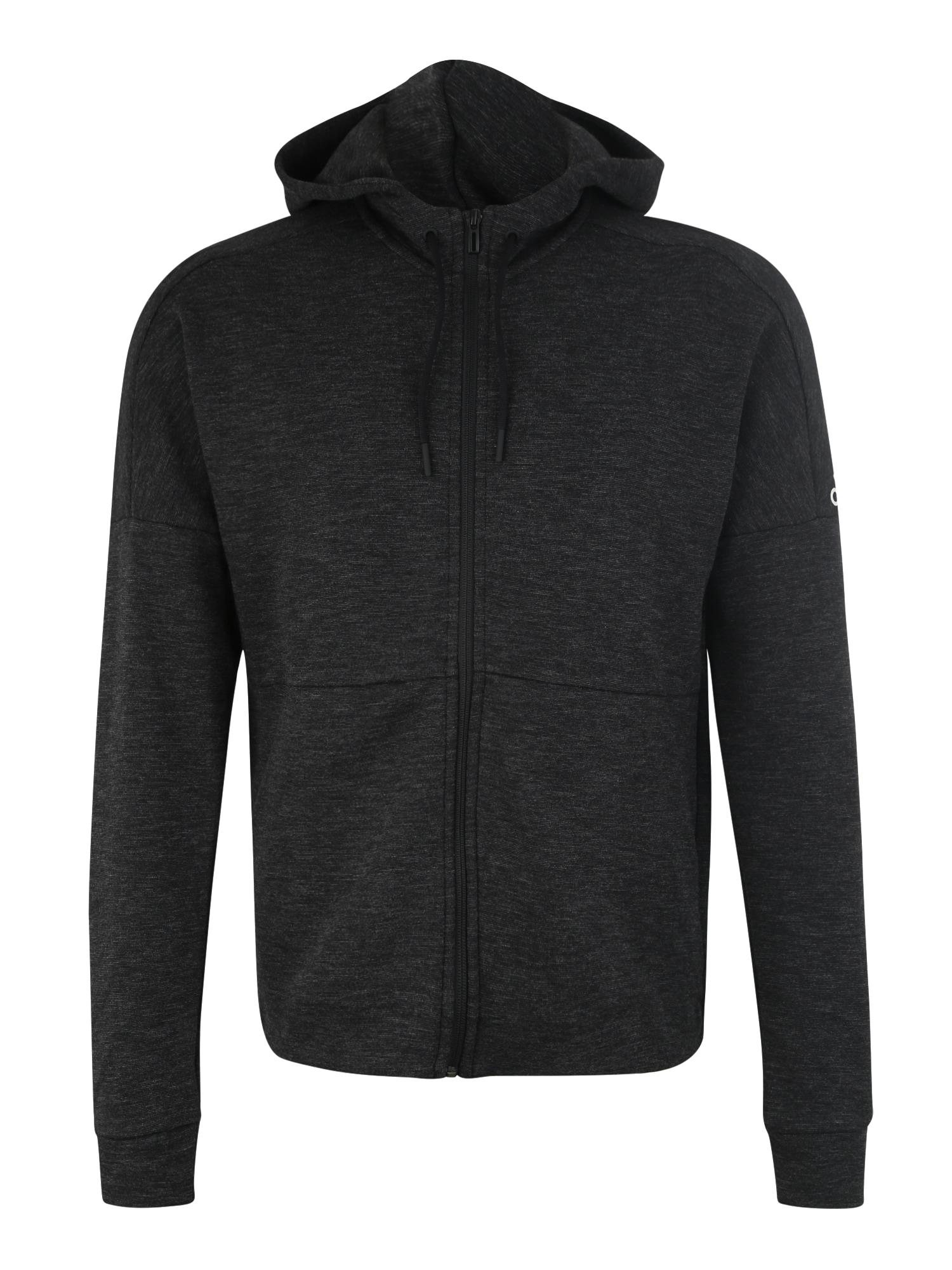 ADIDAS PERFORMANCE Sportinis džemperis margai juoda