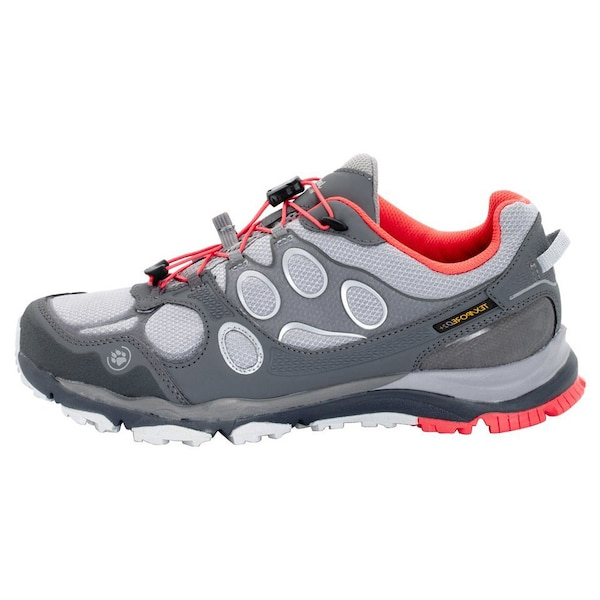 Sportschuhe für Frauen - JACK WOLFSKIN Trailrunningschuh 'TRAIL EXCITE TEXAPORE LOW W' hellgrau dunkelgrau  - Onlineshop ABOUT YOU