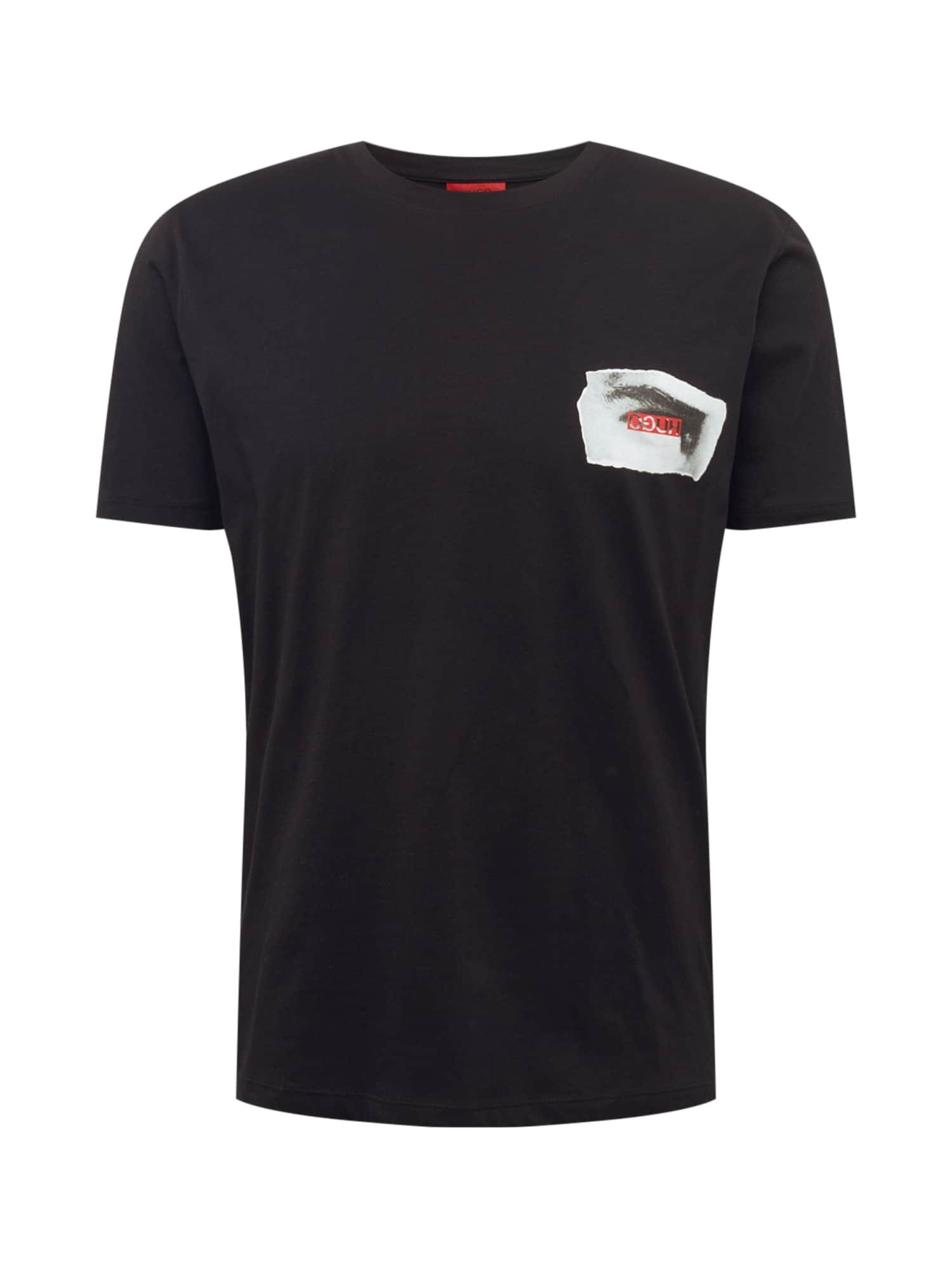 Tričko Deye šedá červená černá HUGO
