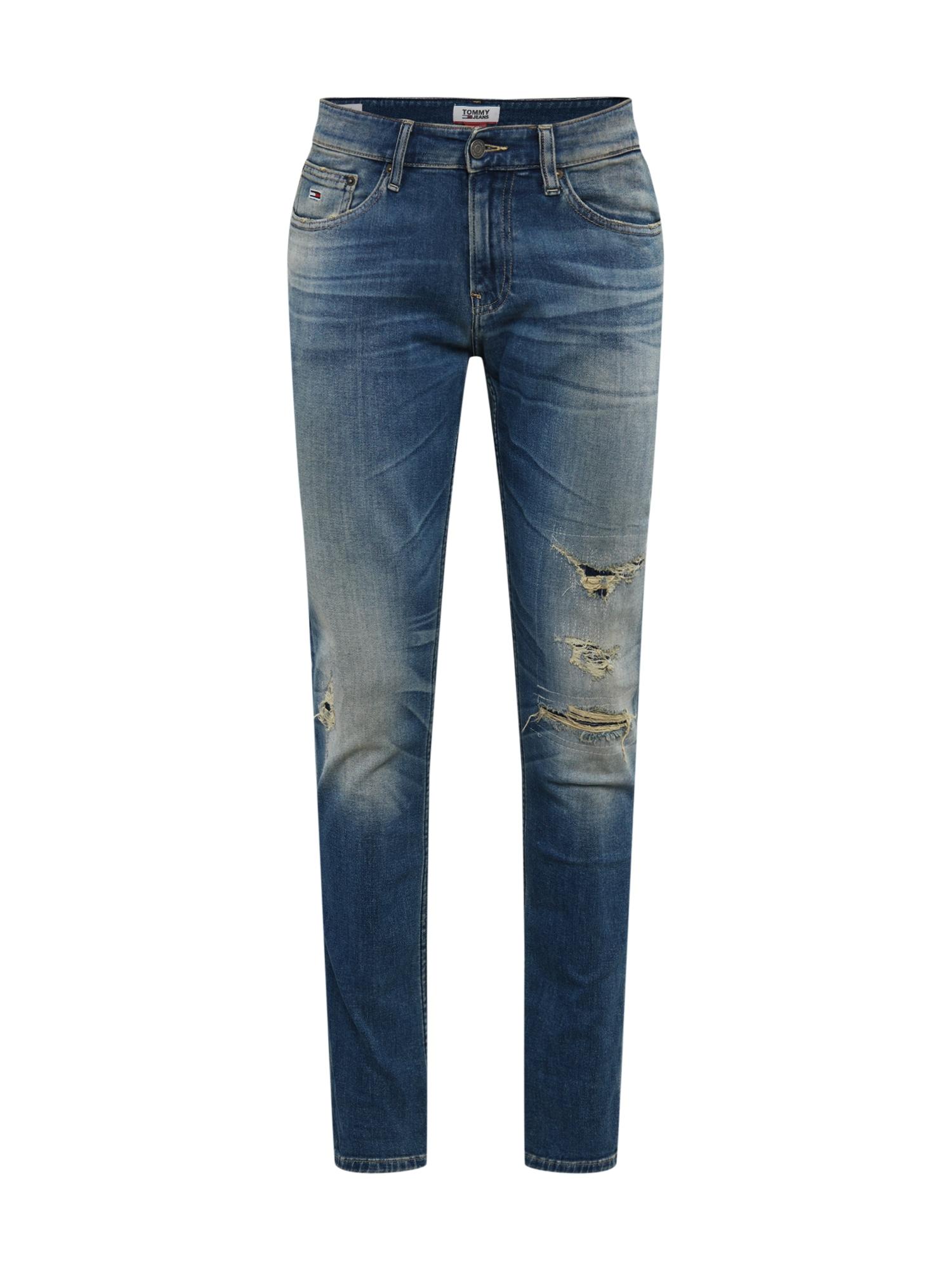Tommy Jeans Džinsai 'SCANTON SLIM WSTRMD' tamsiai (džinso) mėlyna