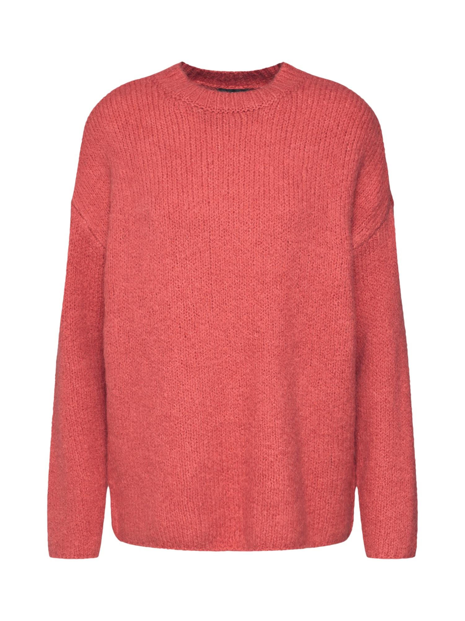 Svetr Slfregina LS Knit O-Neck pastelově červená SELECTED FEMME