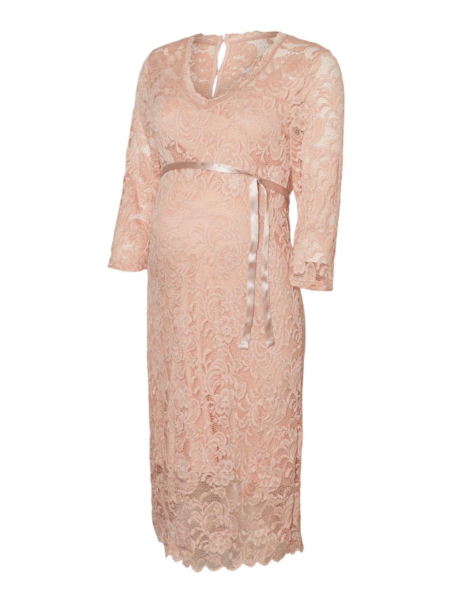 MAMALICIOUS Kokteilové šaty  ružová