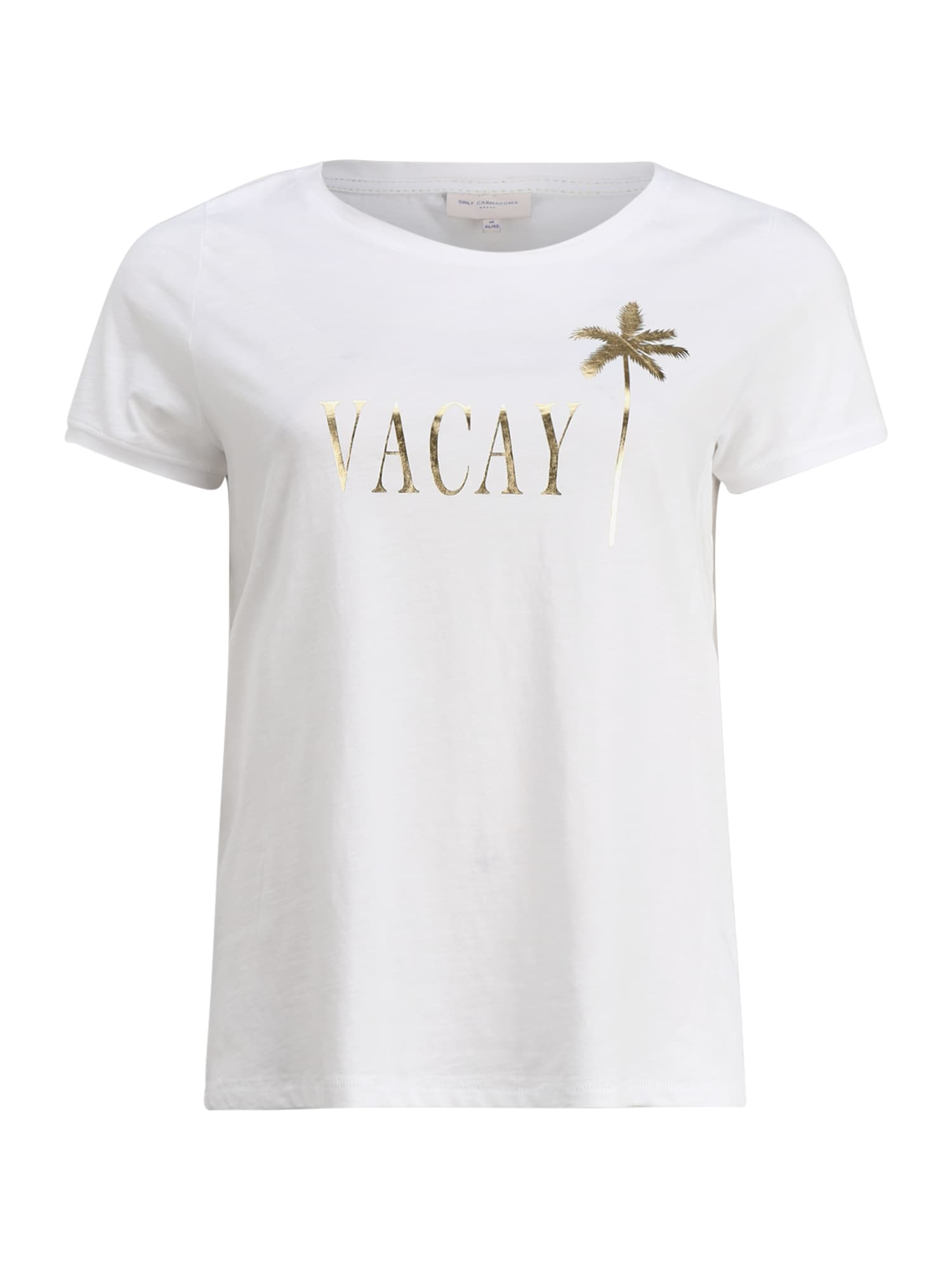 ONLY Carmakoma Marškinėliai 'CARFOIL LIFE' balta