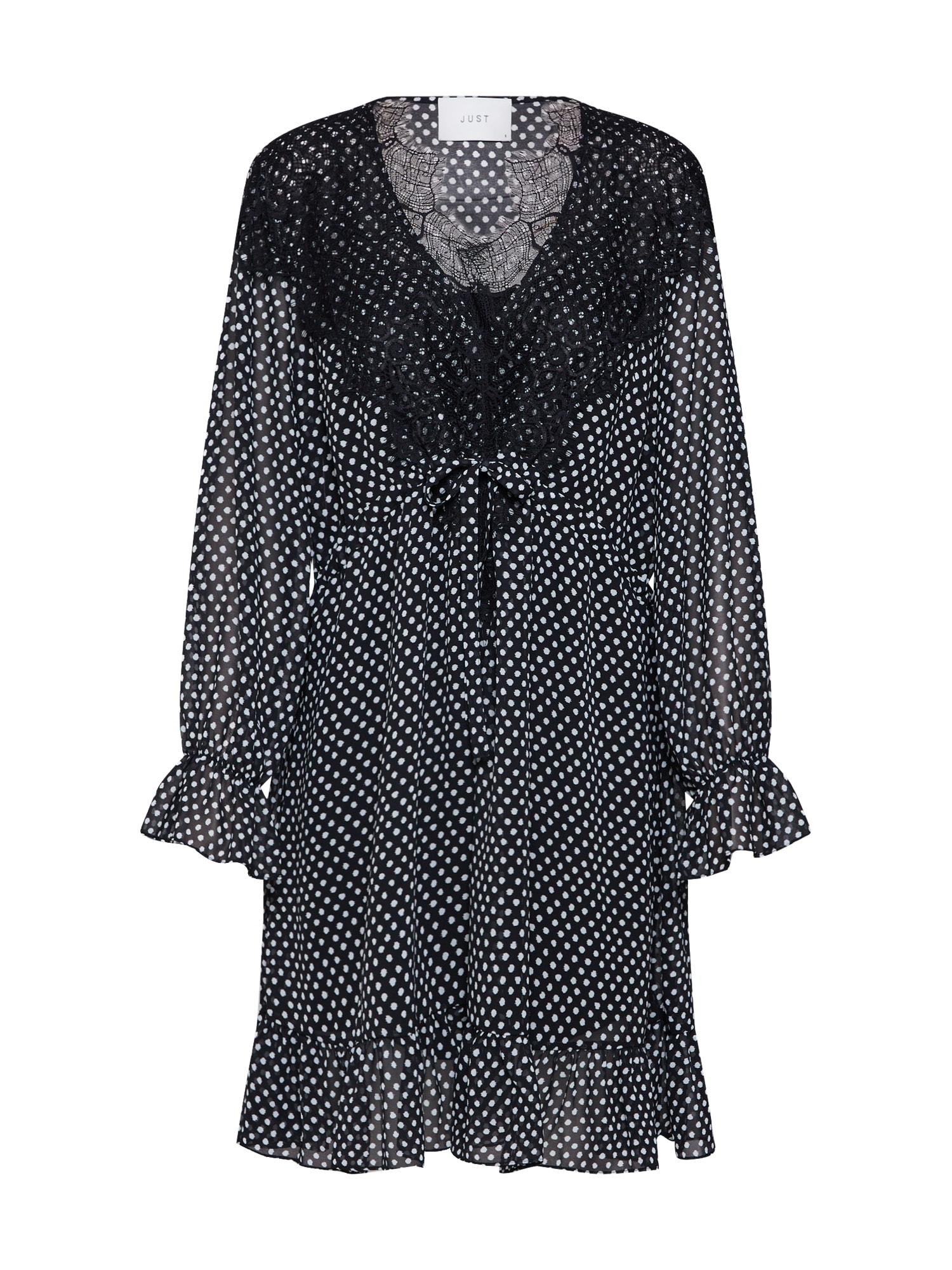 Šaty Ester Dress černá JUST FEMALE