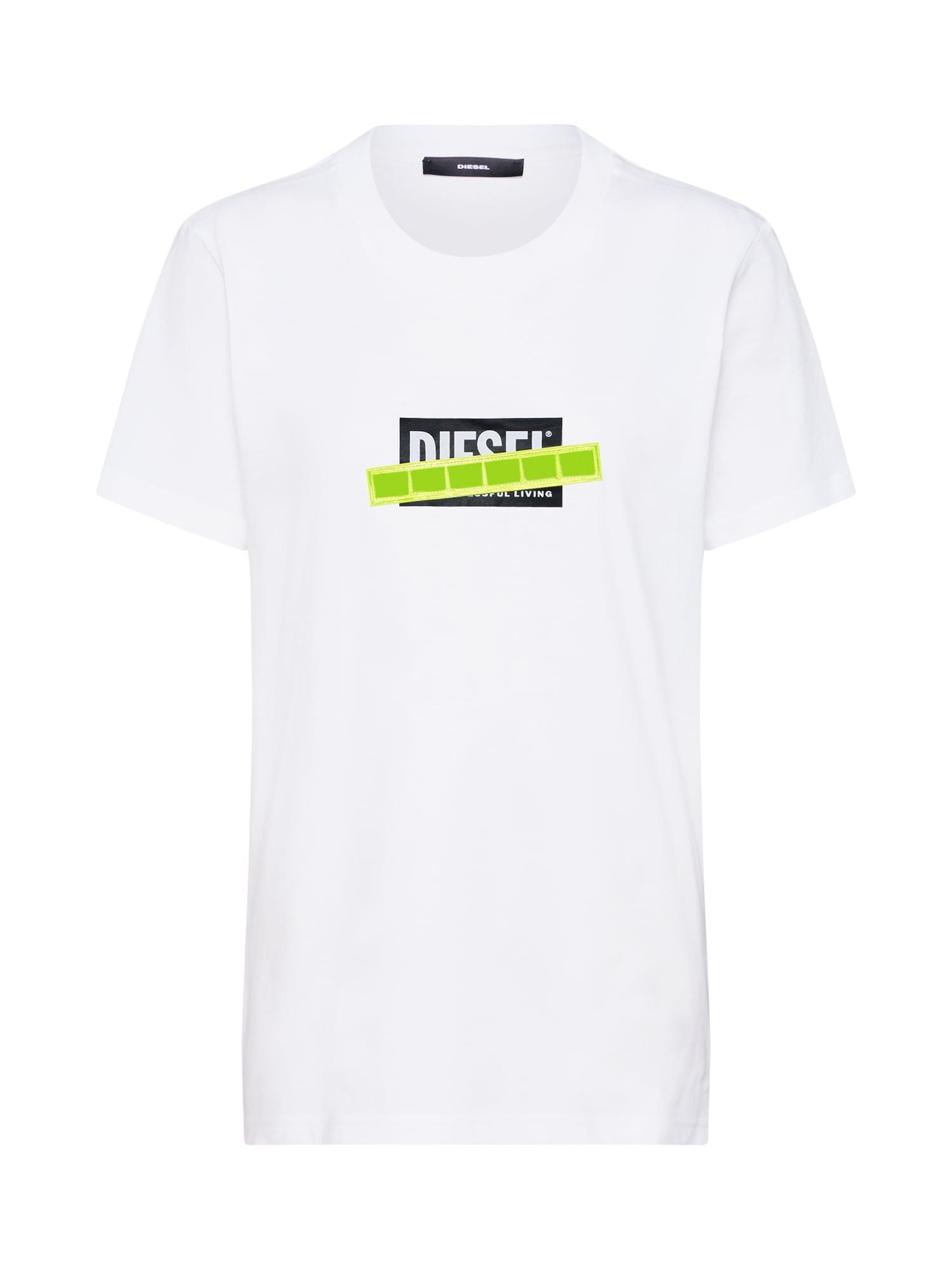 Tričko T-Sily-WL svítivě zelená černá bílá DIESEL