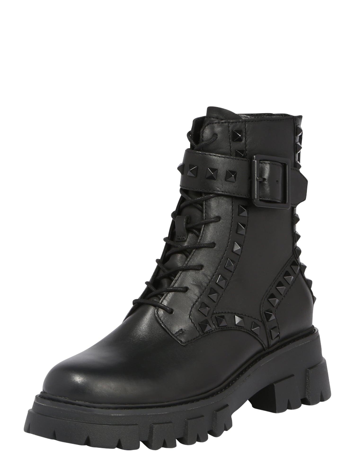 ASH Suvarstomieji kulkšnis dengiantys batai juoda