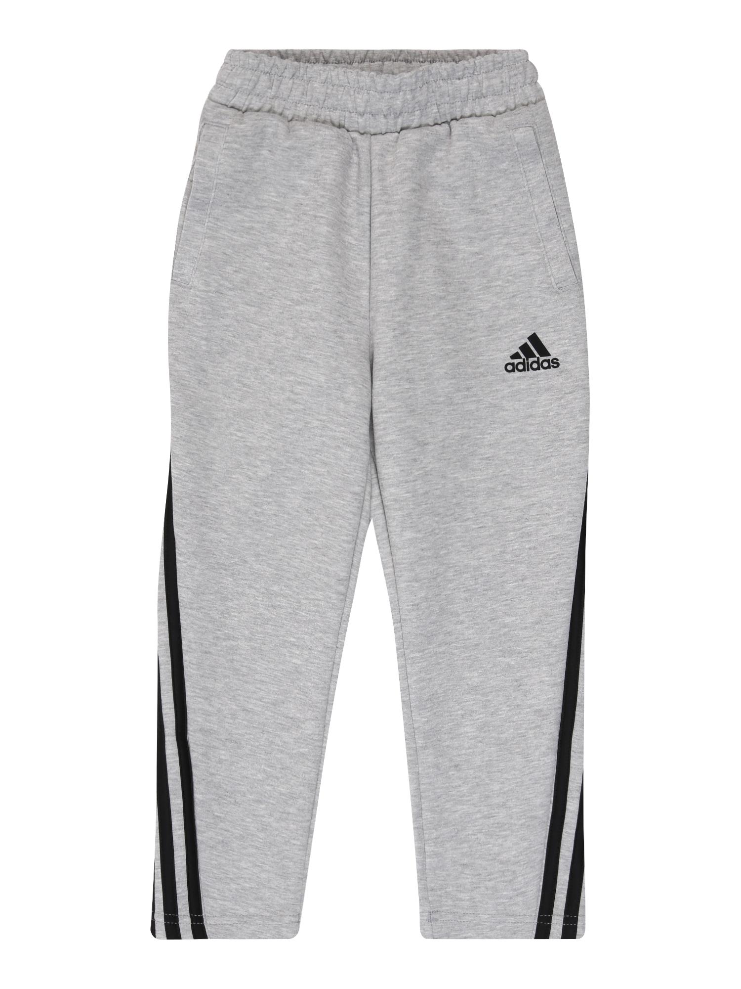 ADIDAS PERFORMANCE Sportinės kelnės margai pilka / juoda