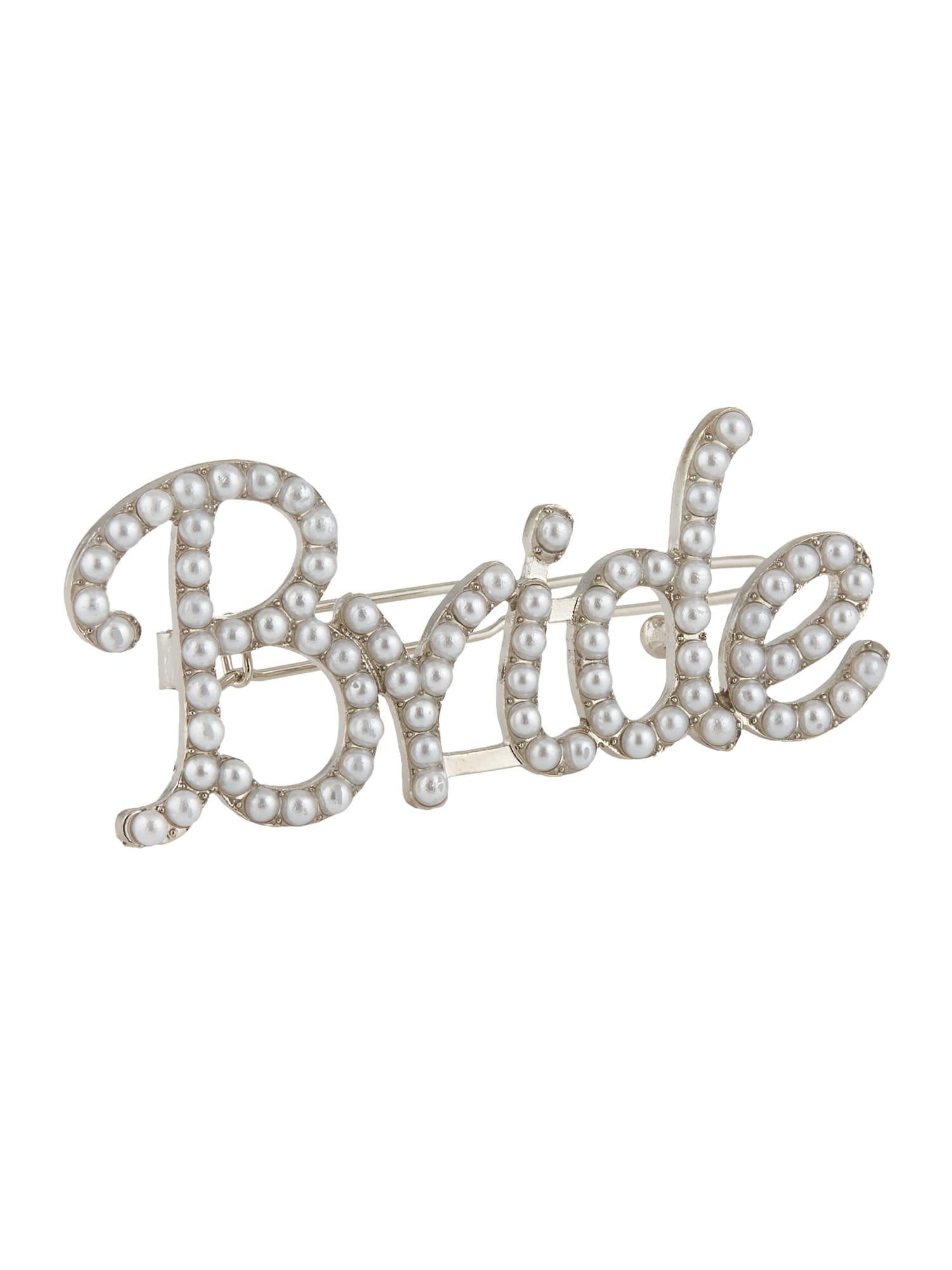 PIECES Plaukų papuošalas 'BRIDE' sidabras