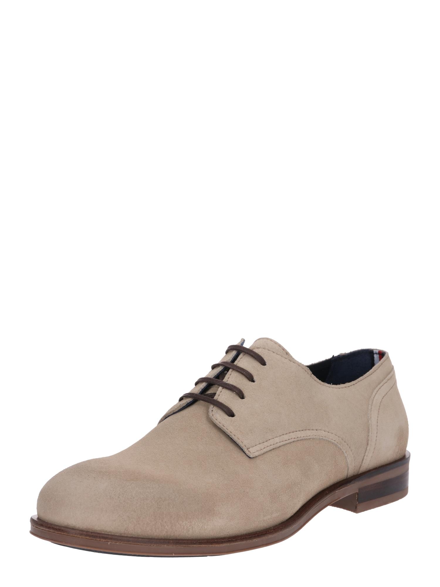 Šněrovací boty béžová TOMMY HILFIGER