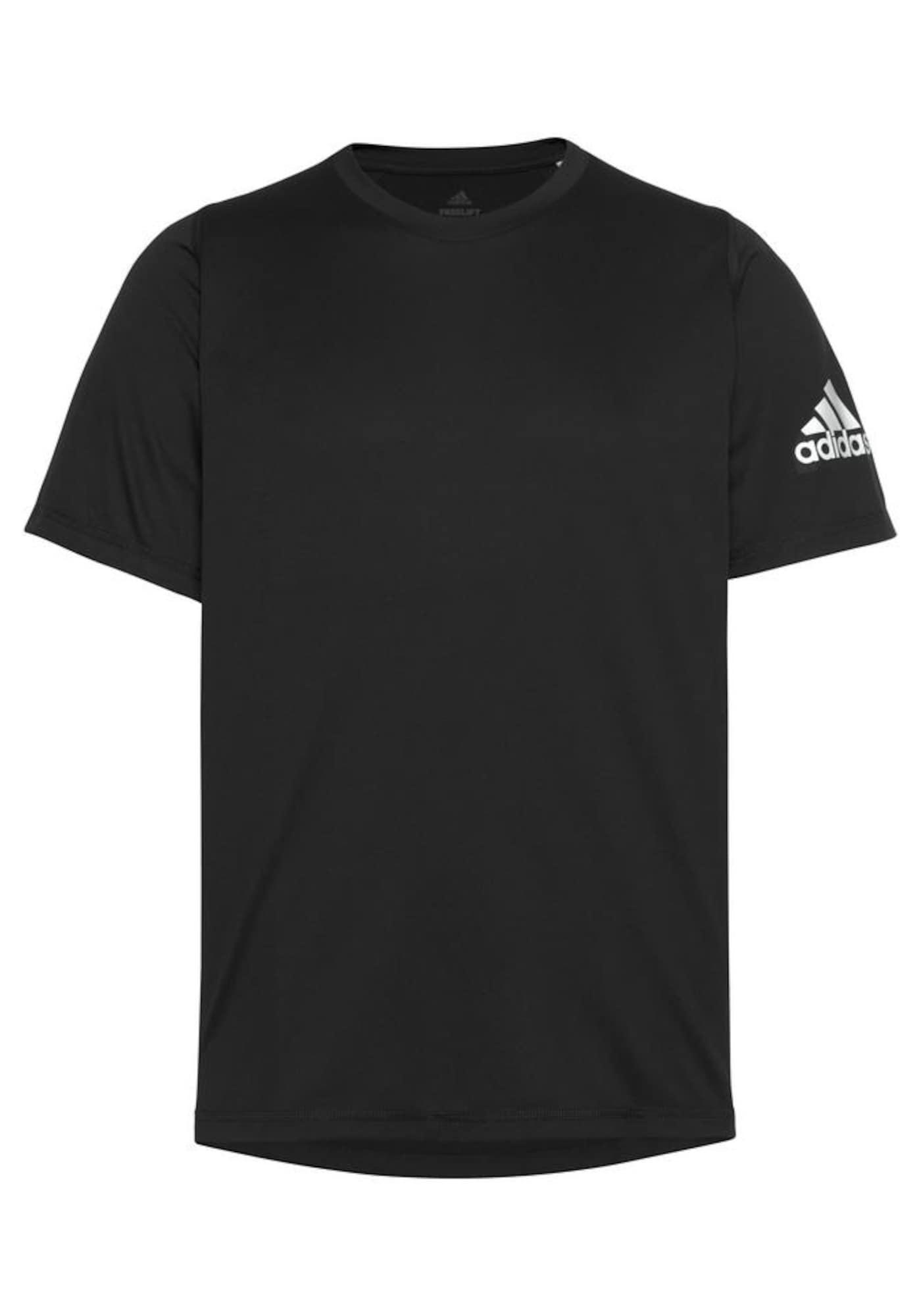 ADIDAS PERFORMANCE Sportiniai marškinėliai balta / juoda