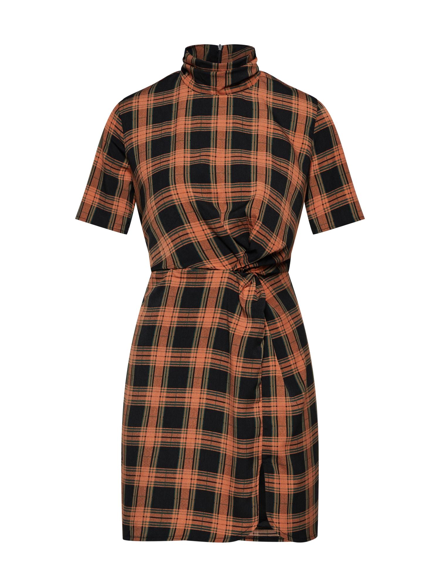 Šaty MOUNT oranžová černá Fashion Union