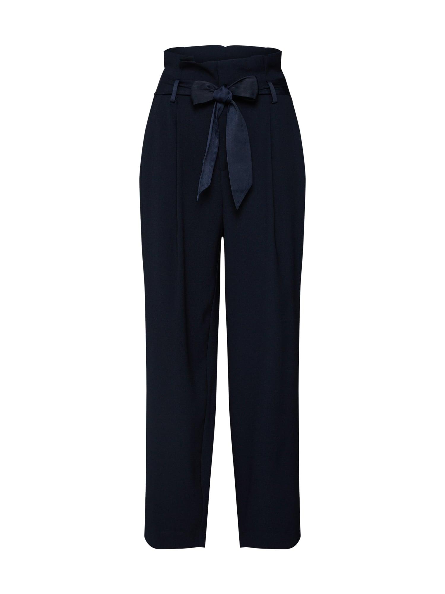 Kalhoty se sklady v pase námořnická modř SCOTCH & SODA