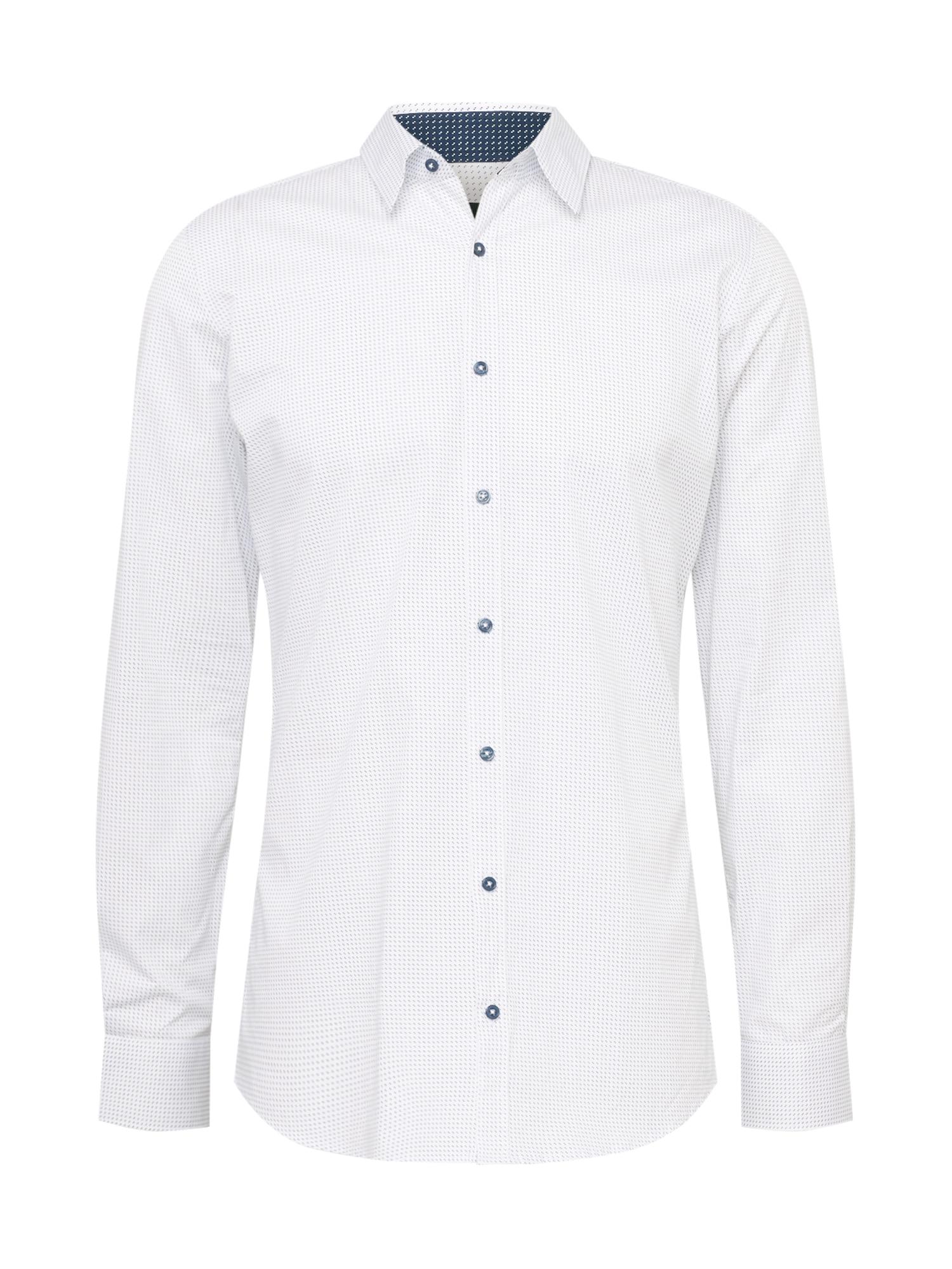 s.Oliver BLACK LABEL Marškiniai balta / mėlyna