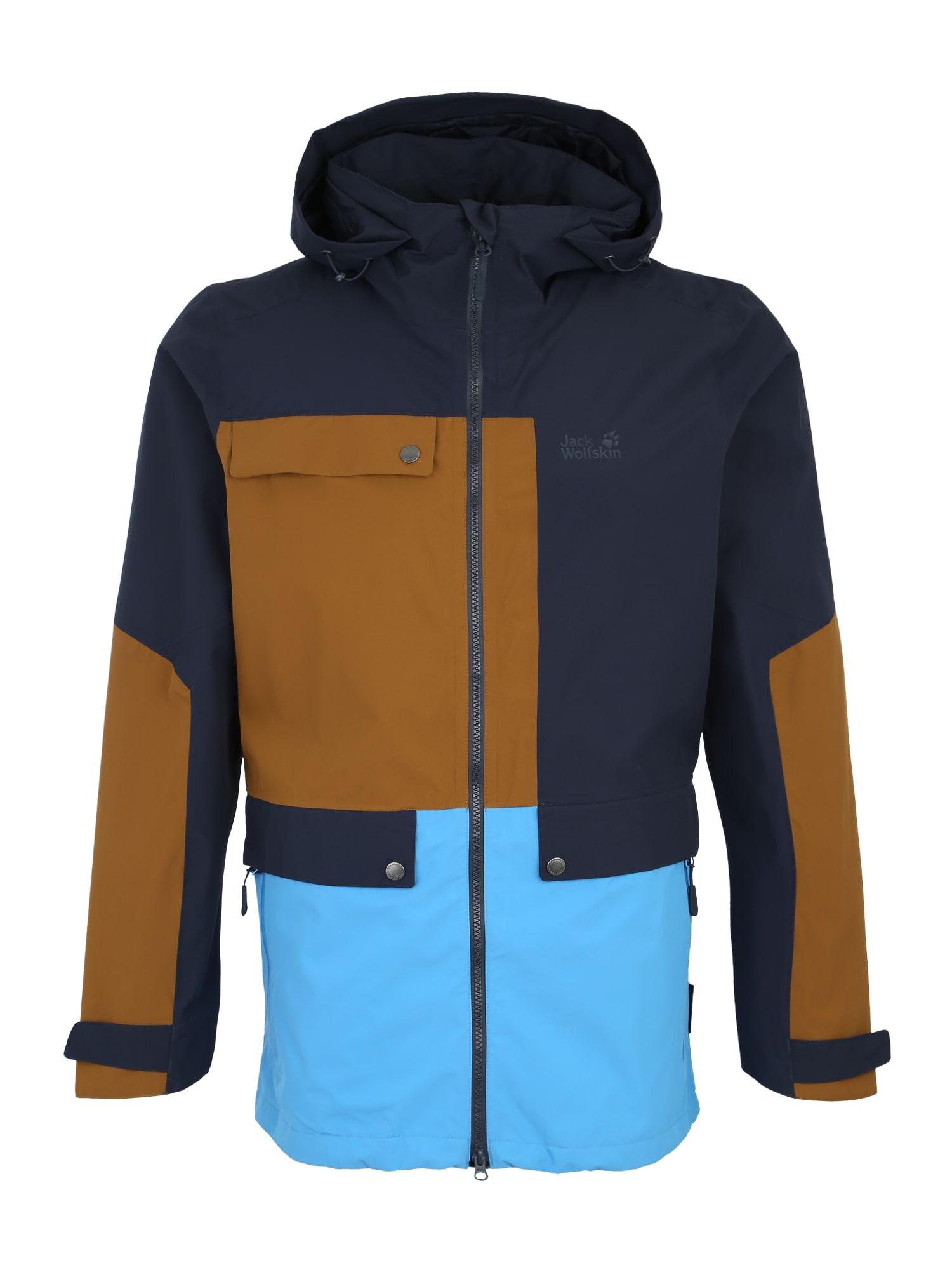 Sportovní bunda 365 INFLUENCER M modrá tmavě modrá hnědá JACK WOLFSKIN