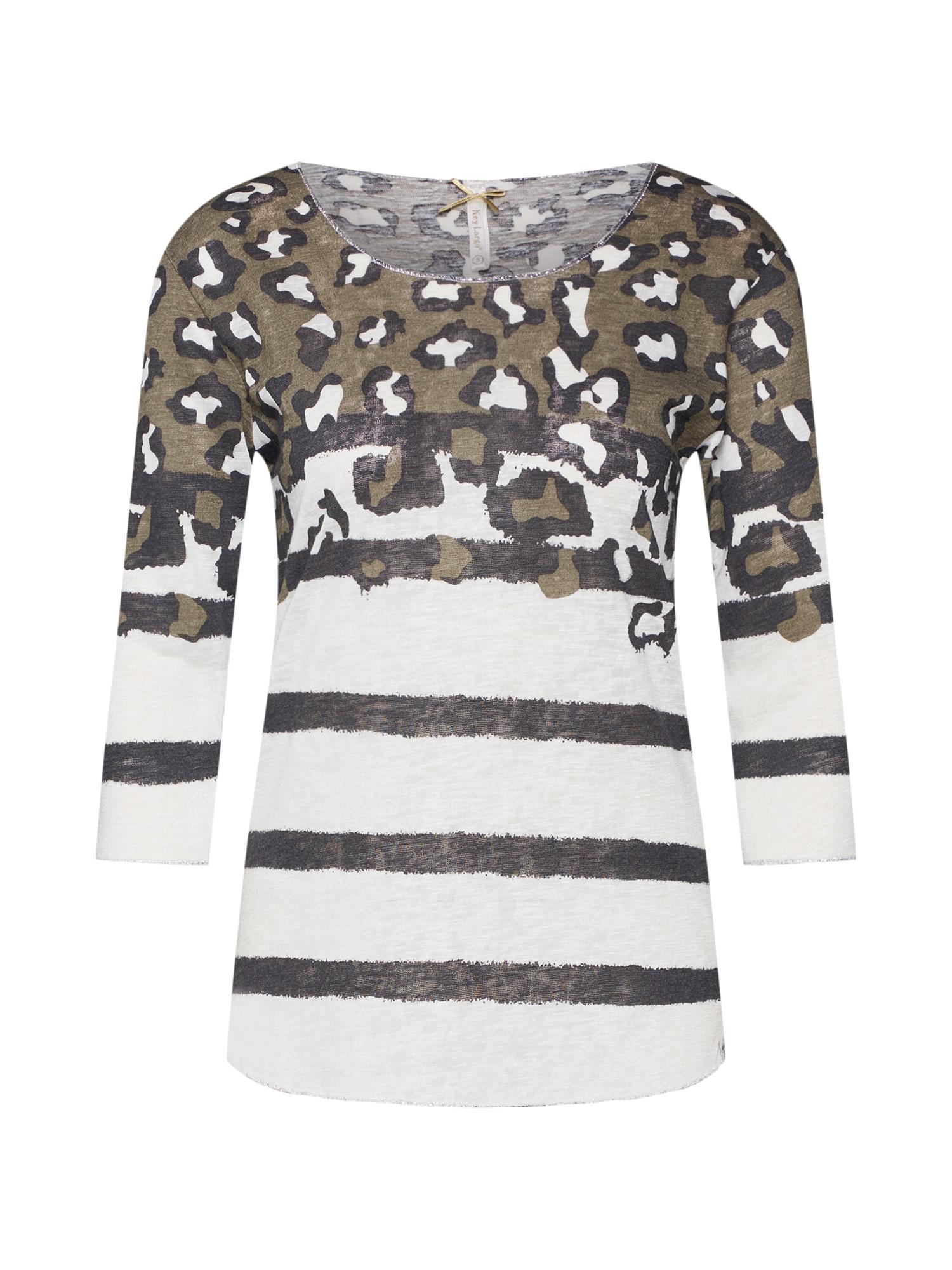 Tričko béžová khaki černá Key Largo