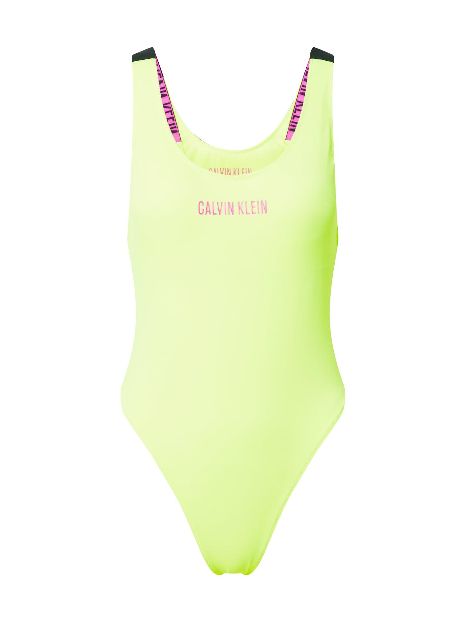 Calvin Klein Swimwear Jednodielne plavky 'SCOOP'  žlté