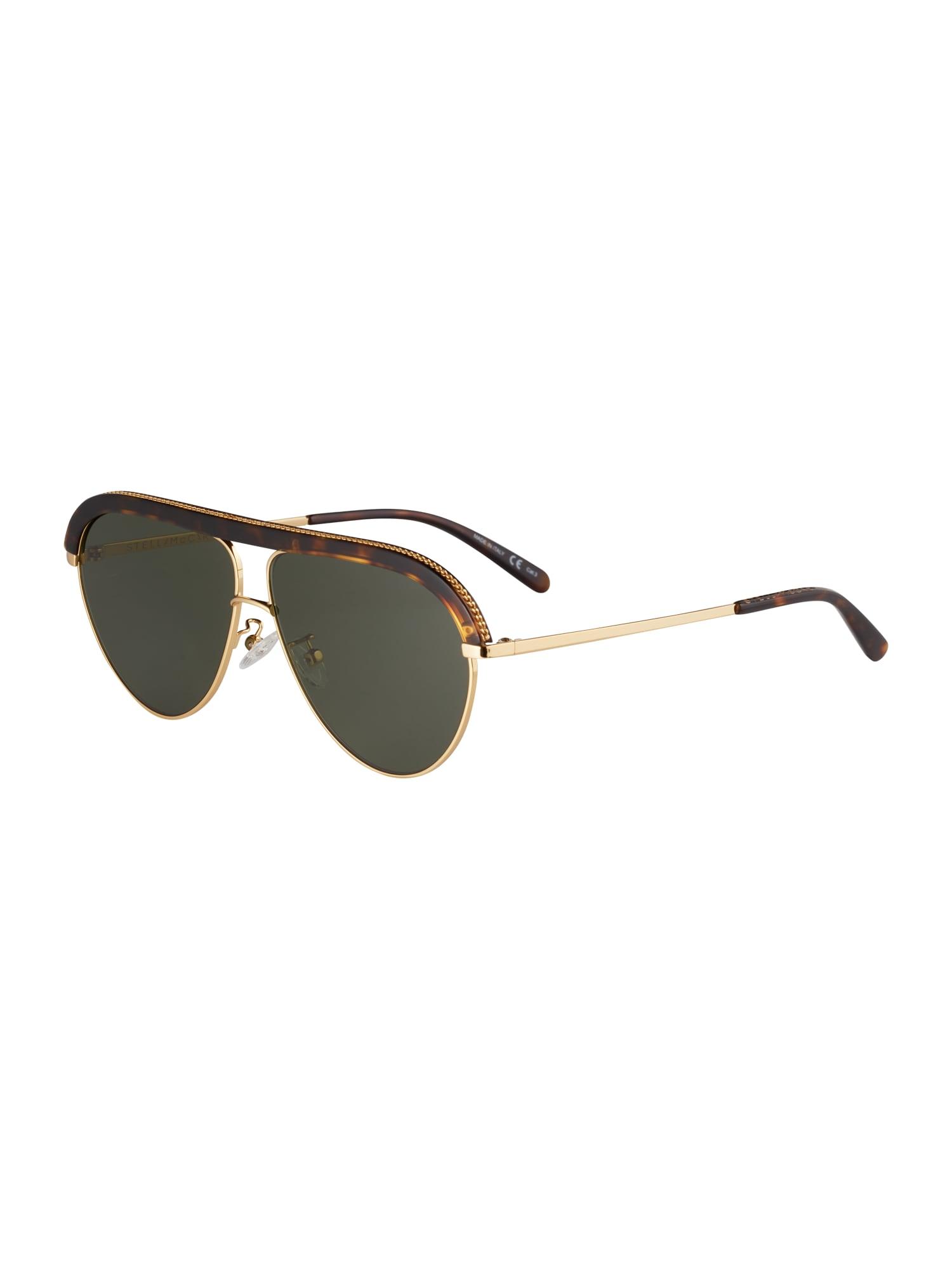 Stella McCartney Slnečné okuliare  zelená / zlatá