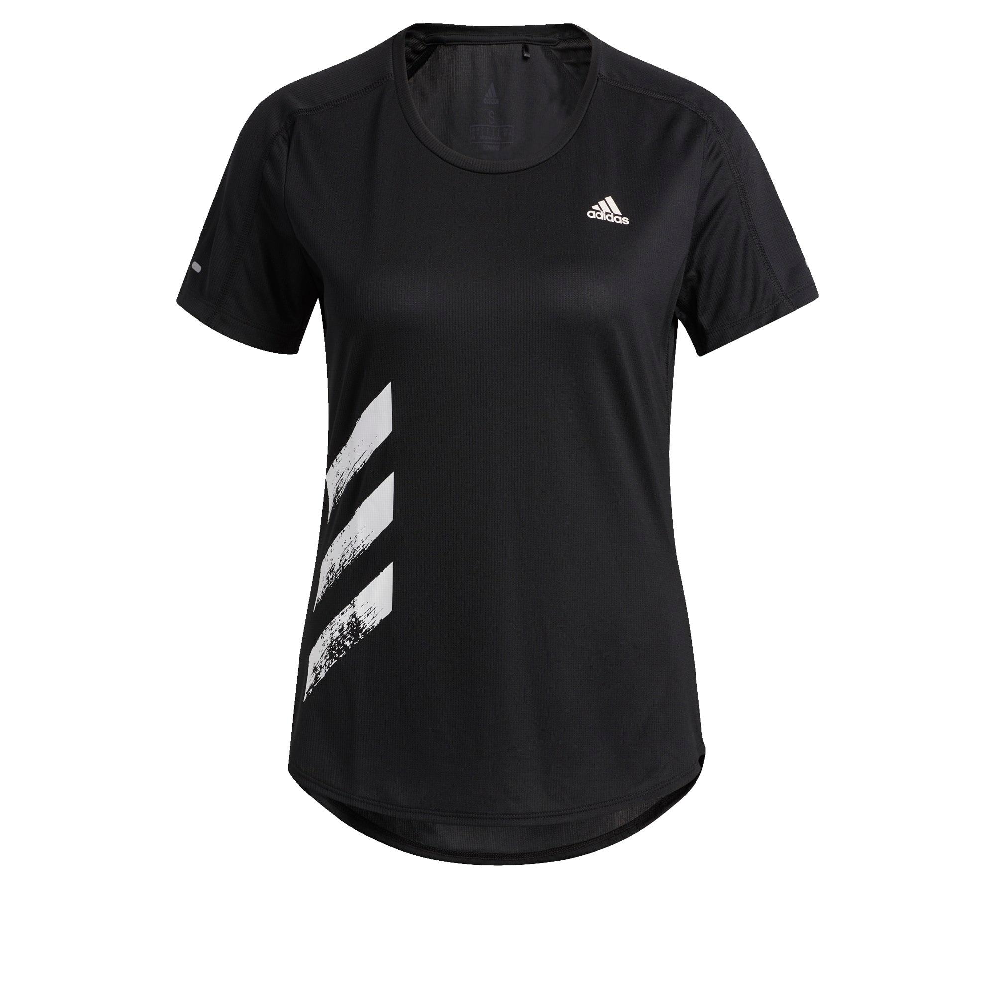 ADIDAS PERFORMANCE T-Shirt  čierna / biela