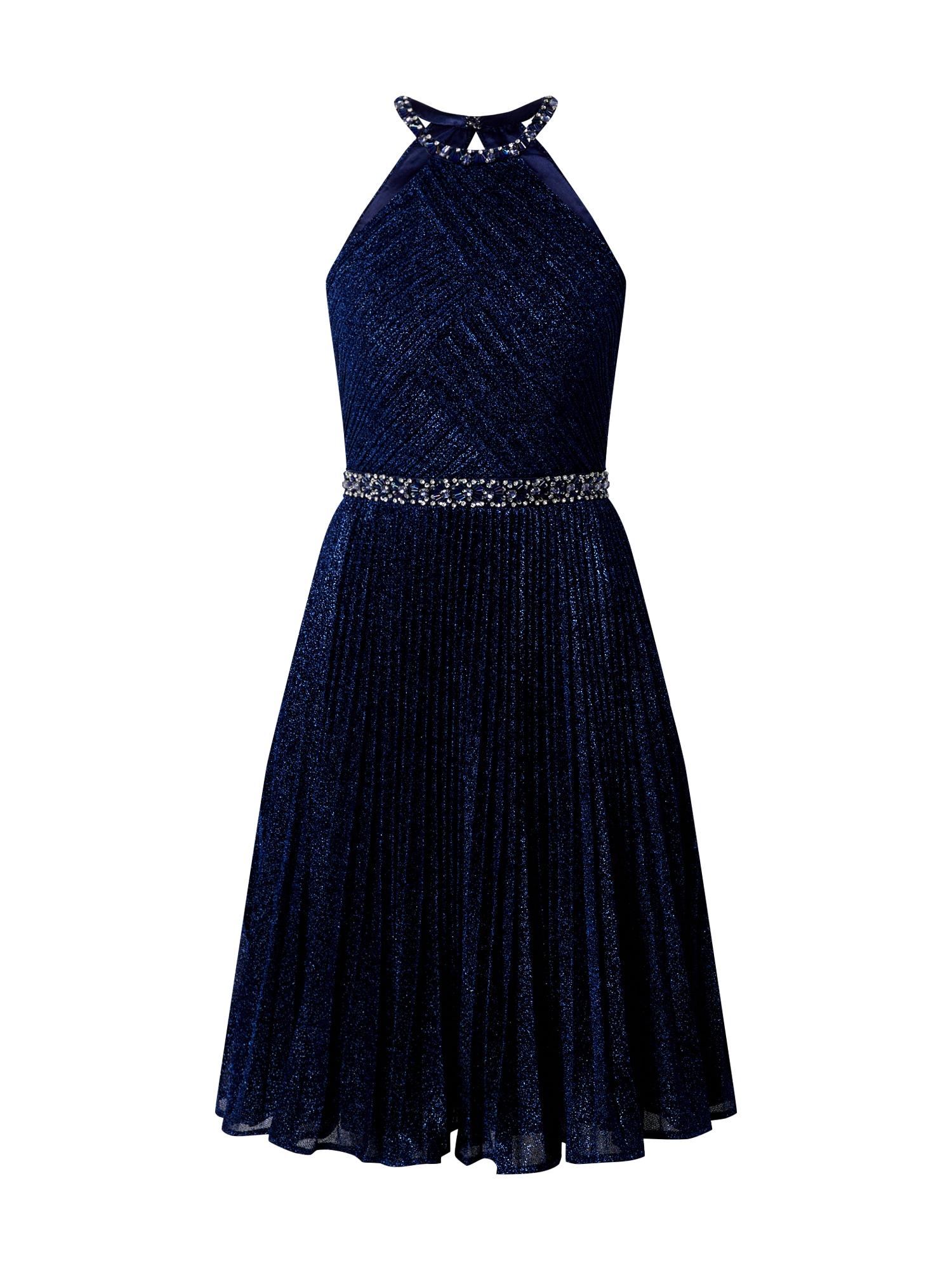 LUXUAR Kokteilinė suknelė šviesiai mėlyna / tamsiai mėlyna / sidabrinė