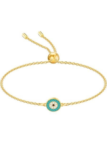 Armbaender für Frauen - Swarovski Armband 'Luckily 5468923' gold jade weiß  - Onlineshop ABOUT YOU