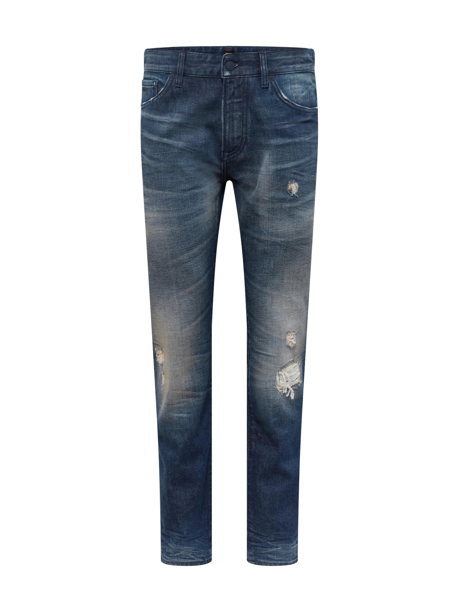 BOSS Džinsai 'Maine BC-L 10218017 01' tamsiai (džinso) mėlyna