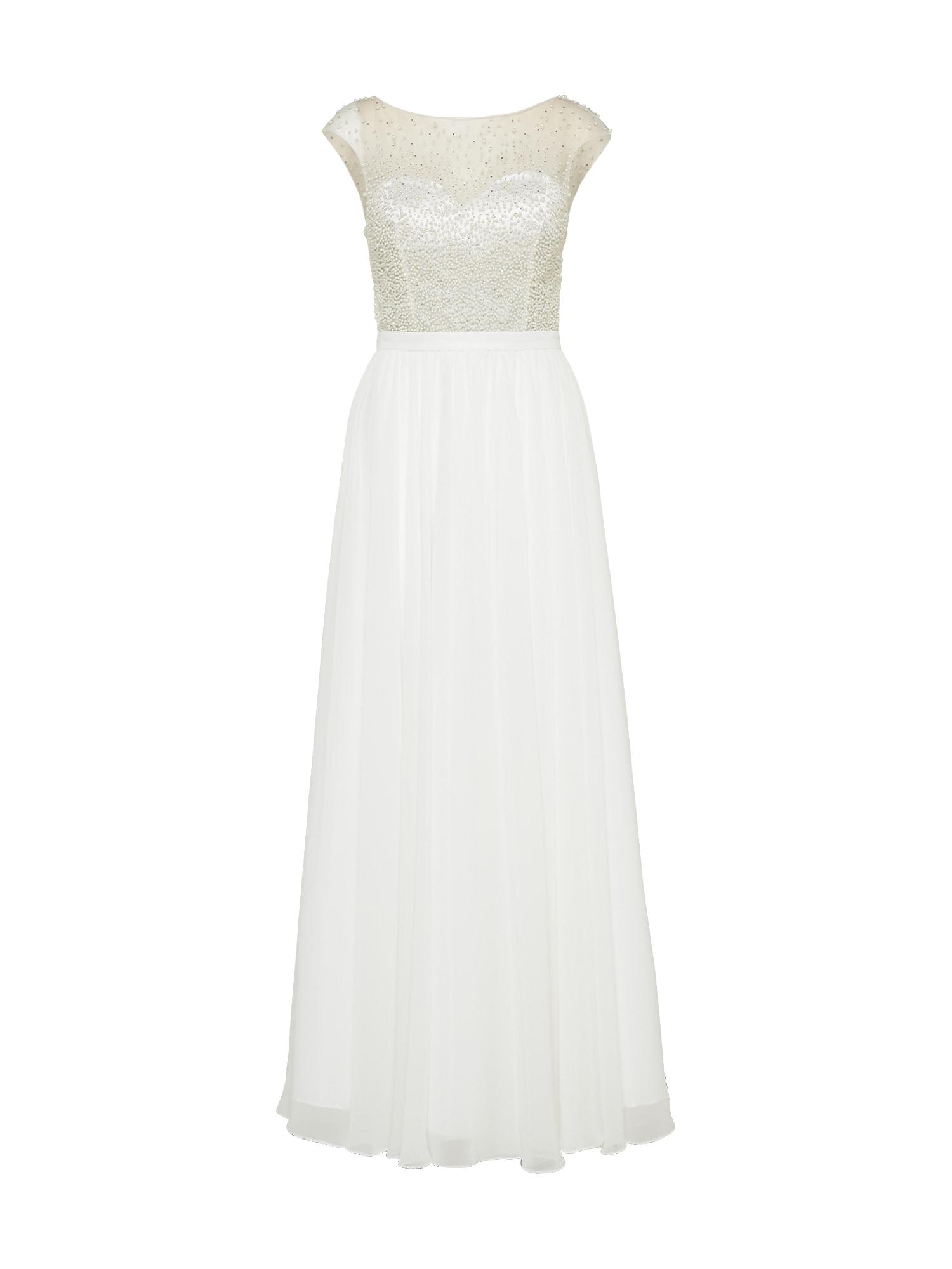 Společenské šaty krémová bílá Mascara