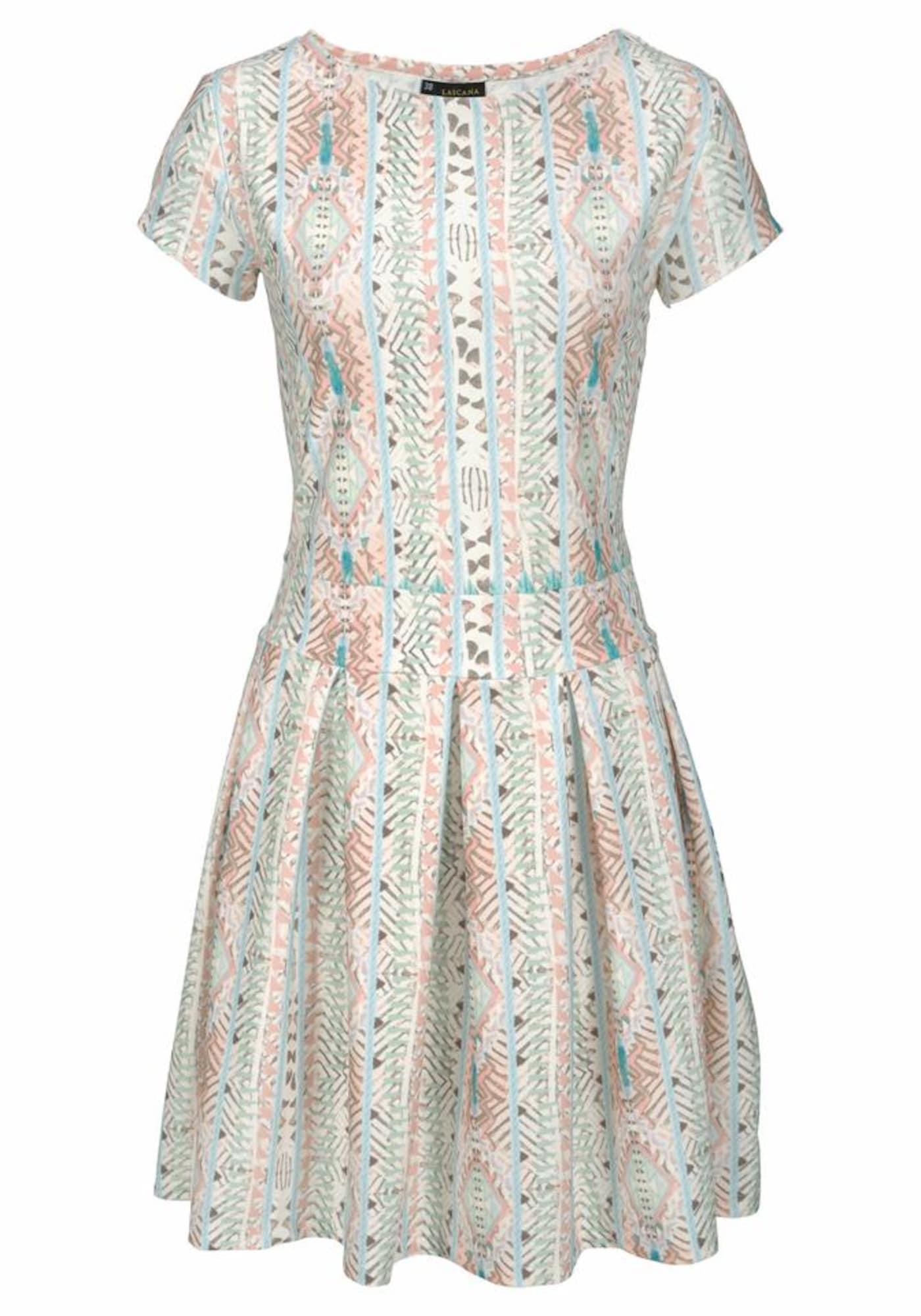LASCANA Letní šaty  růžová / bílá