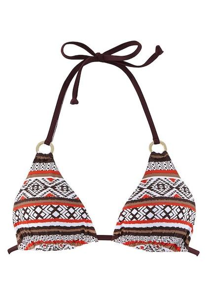 Bademode - Bikinitop › Lascana › braun hummer weiß  - Onlineshop ABOUT YOU