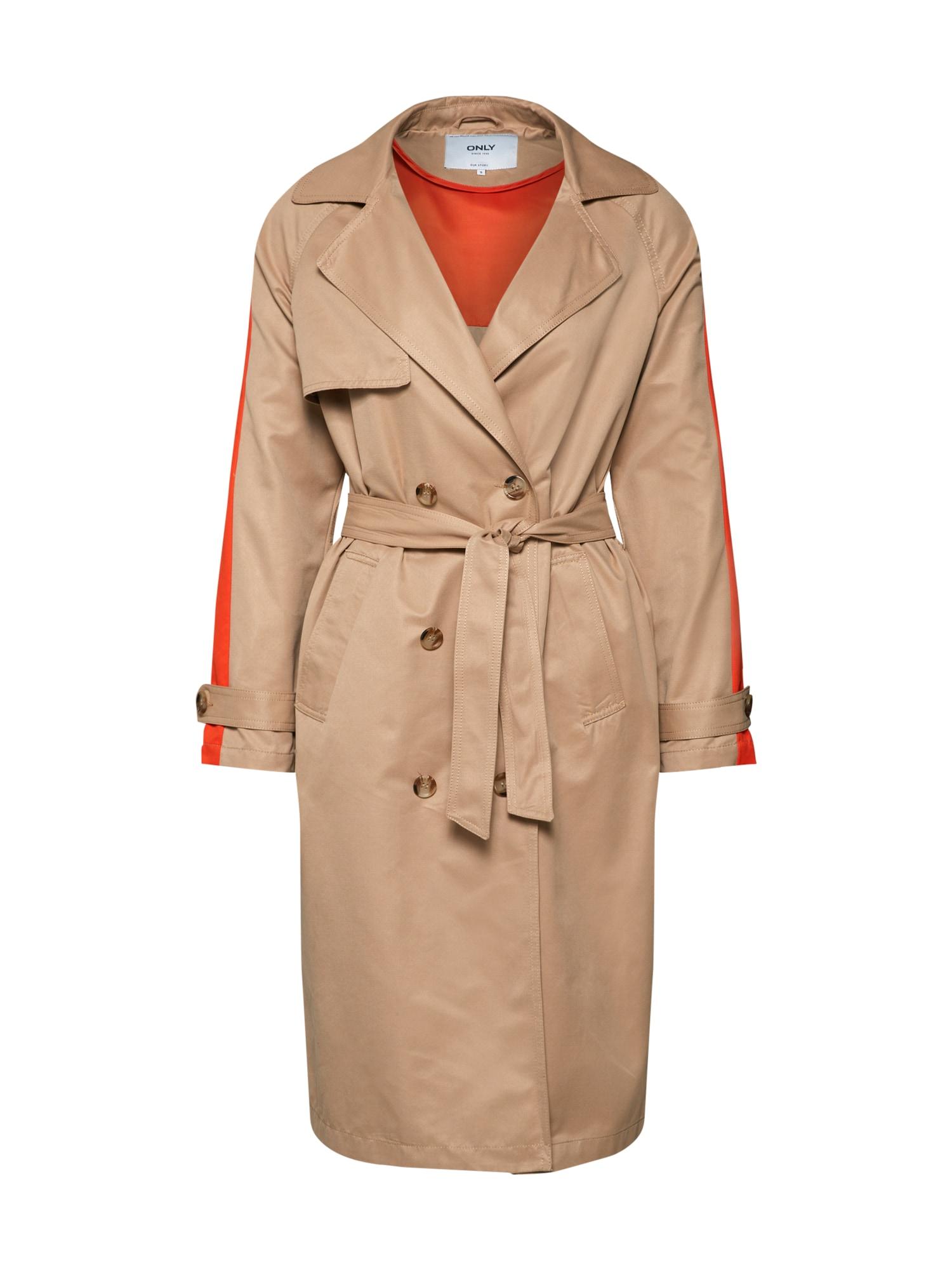 Přechodný kabát ISABELLA velbloudí oranžová ONLY