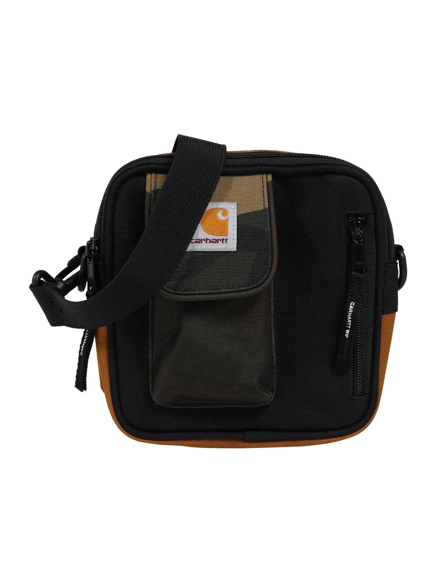 Carhartt WIP Taška cez rameno 'Essentials'  čierna / svetlohnedá / koňak / tmavozelená