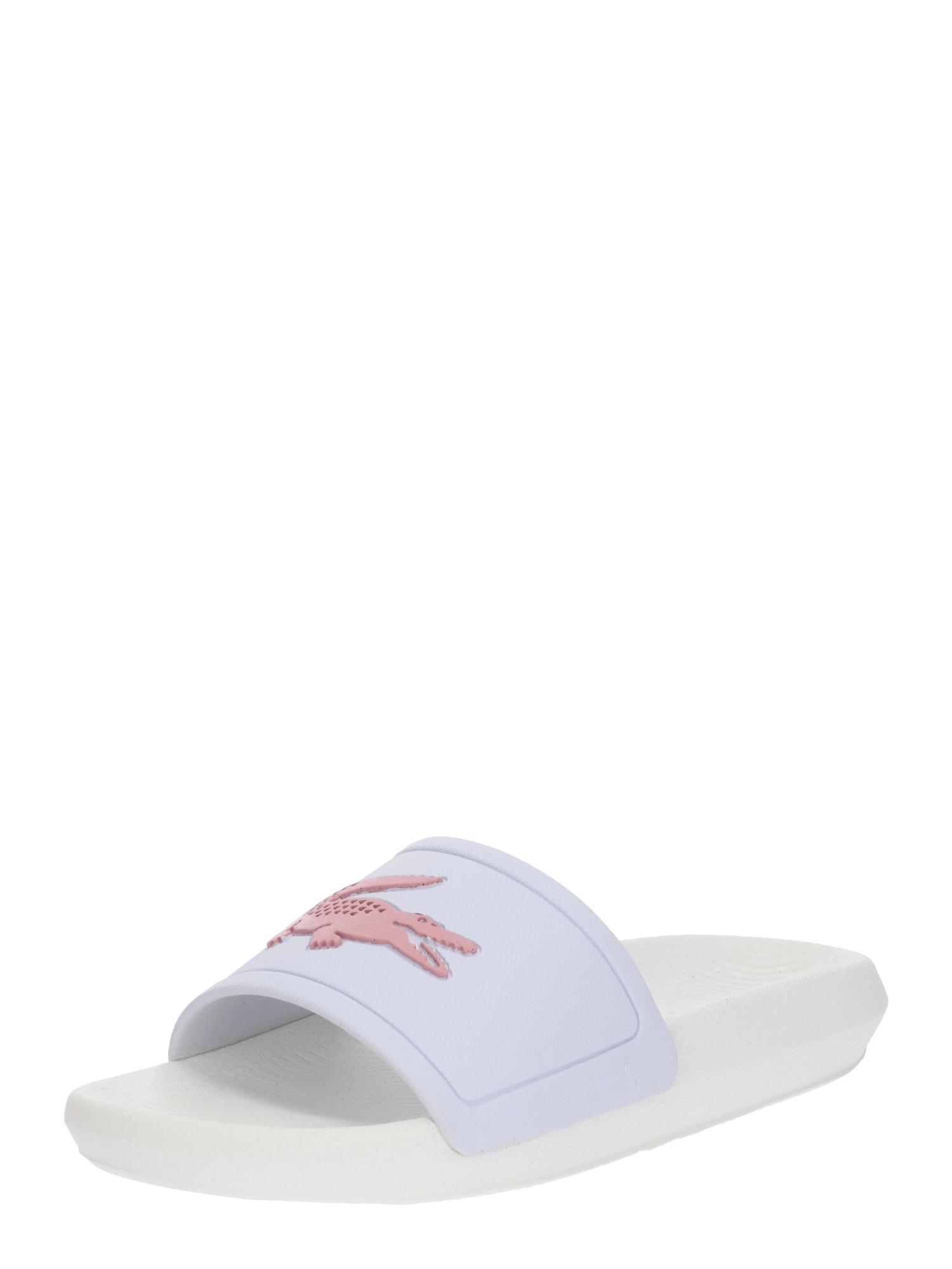 Pantofle Croco Slide růžová bílá LACOSTE