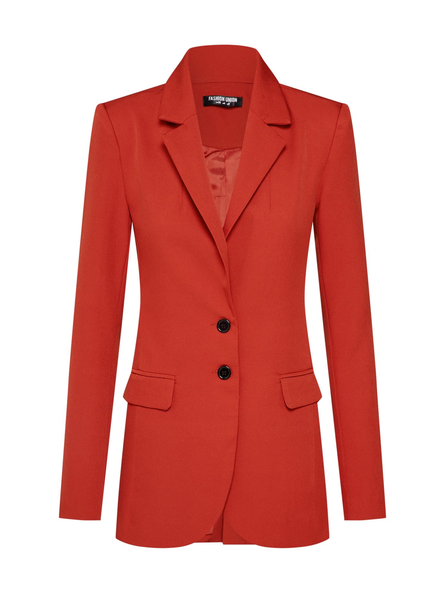 Blejzr MISON BLAZER oranžově červená Fashion Union