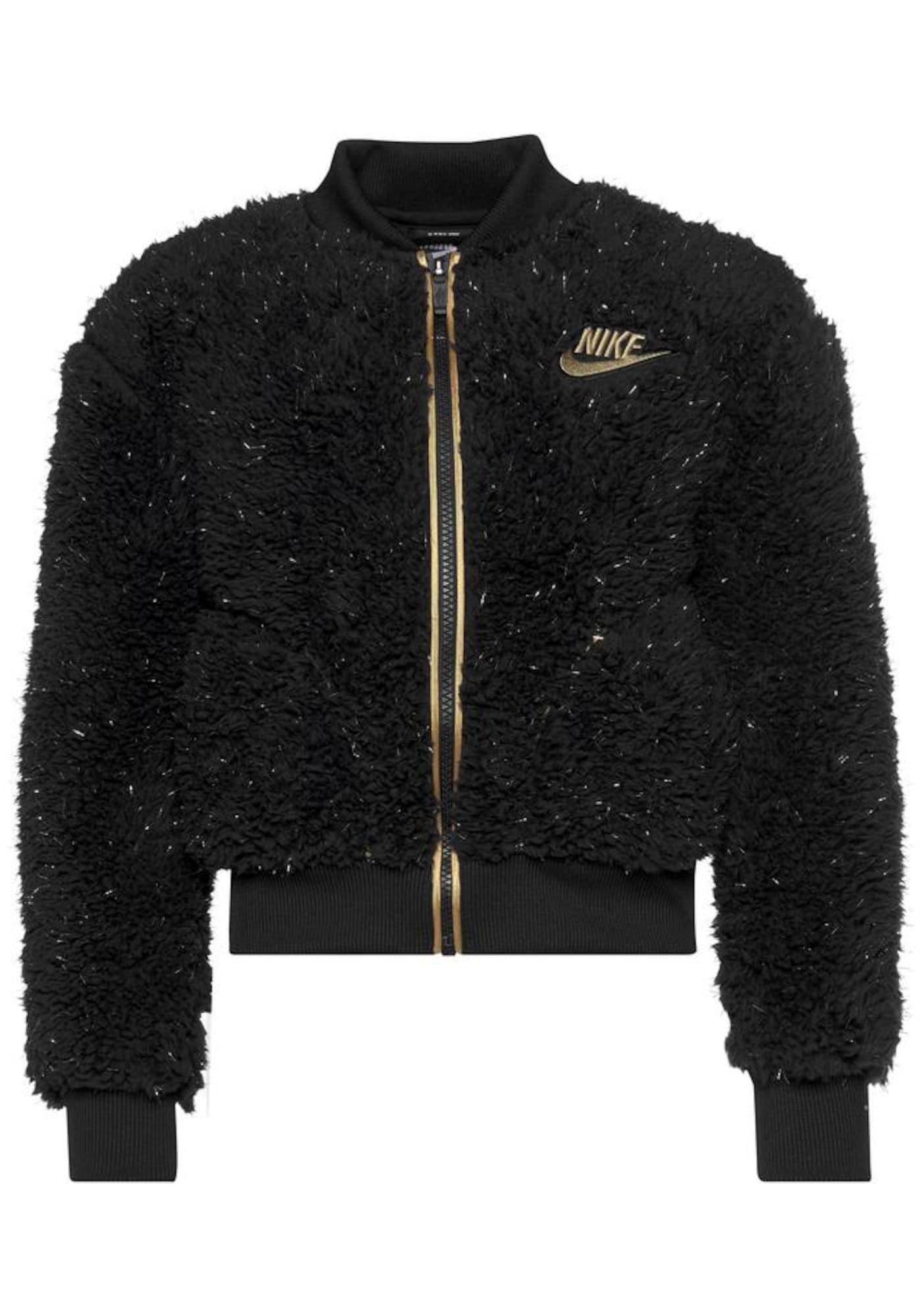 Nike Sportswear Demisezoninė striukė auksas / juoda