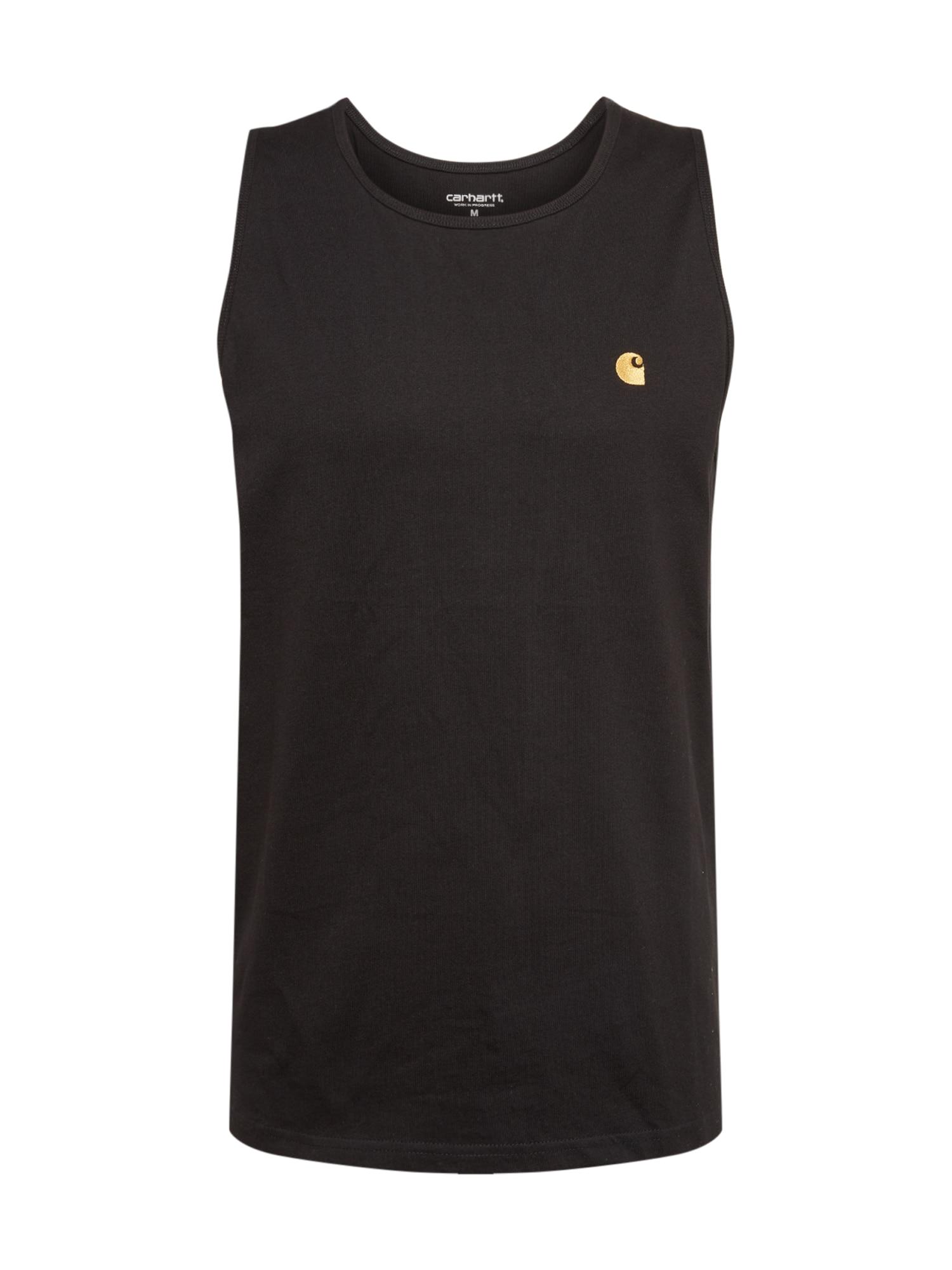 Carhartt WIP Marškinėliai auksas / juoda