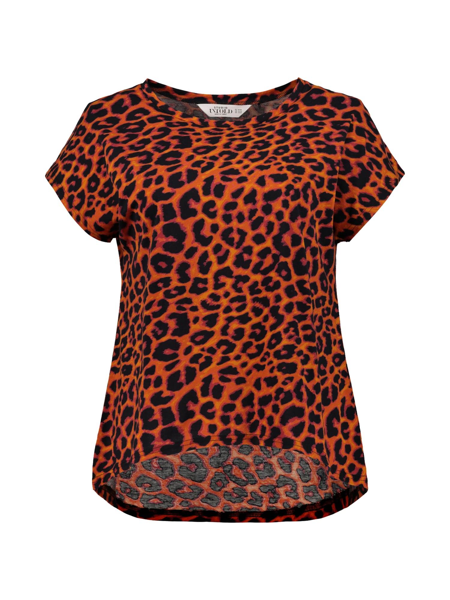 Tričko hnědá jasně oranžová Studio Untold