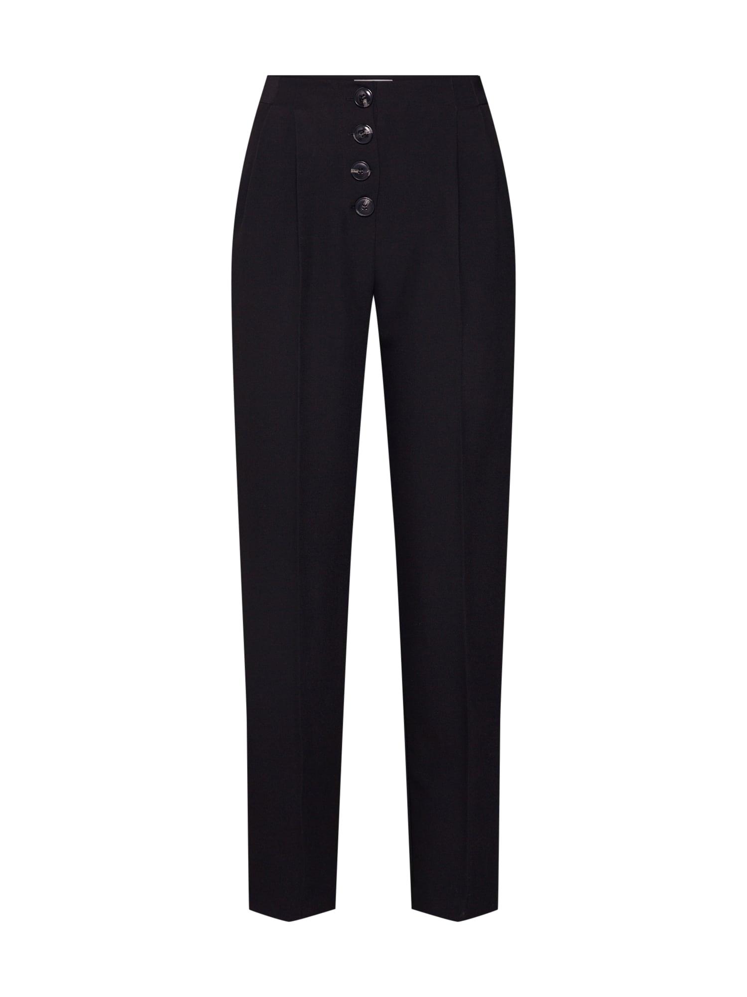 Kalhoty se sklady v pase Onia černá PIECES