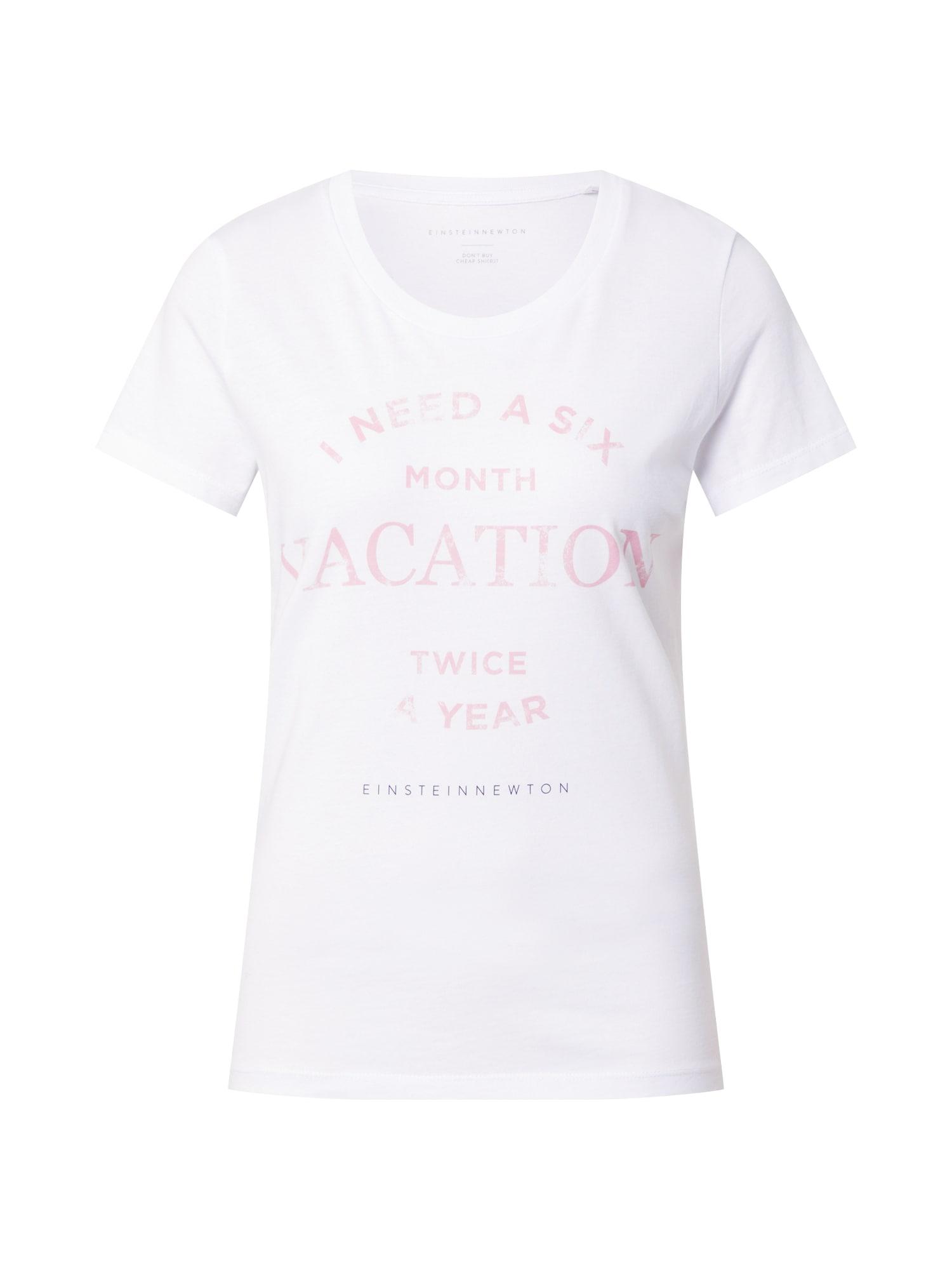 EINSTEIN & NEWTON Marškinėliai balta / pastelinė violetinė / pastelinė rožinė