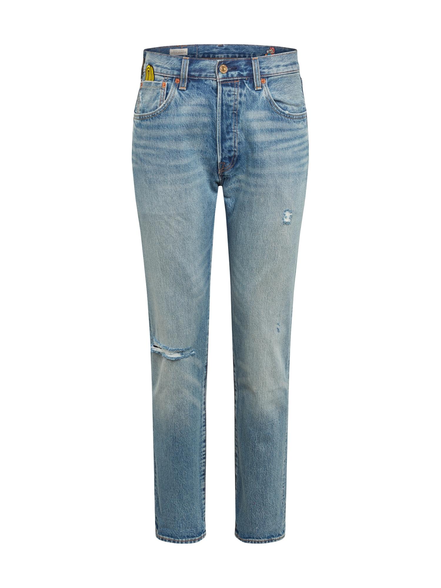 LEVI'S Džinsai 'NINTENDO 501 STRAIGHT' tamsiai (džinso) mėlyna