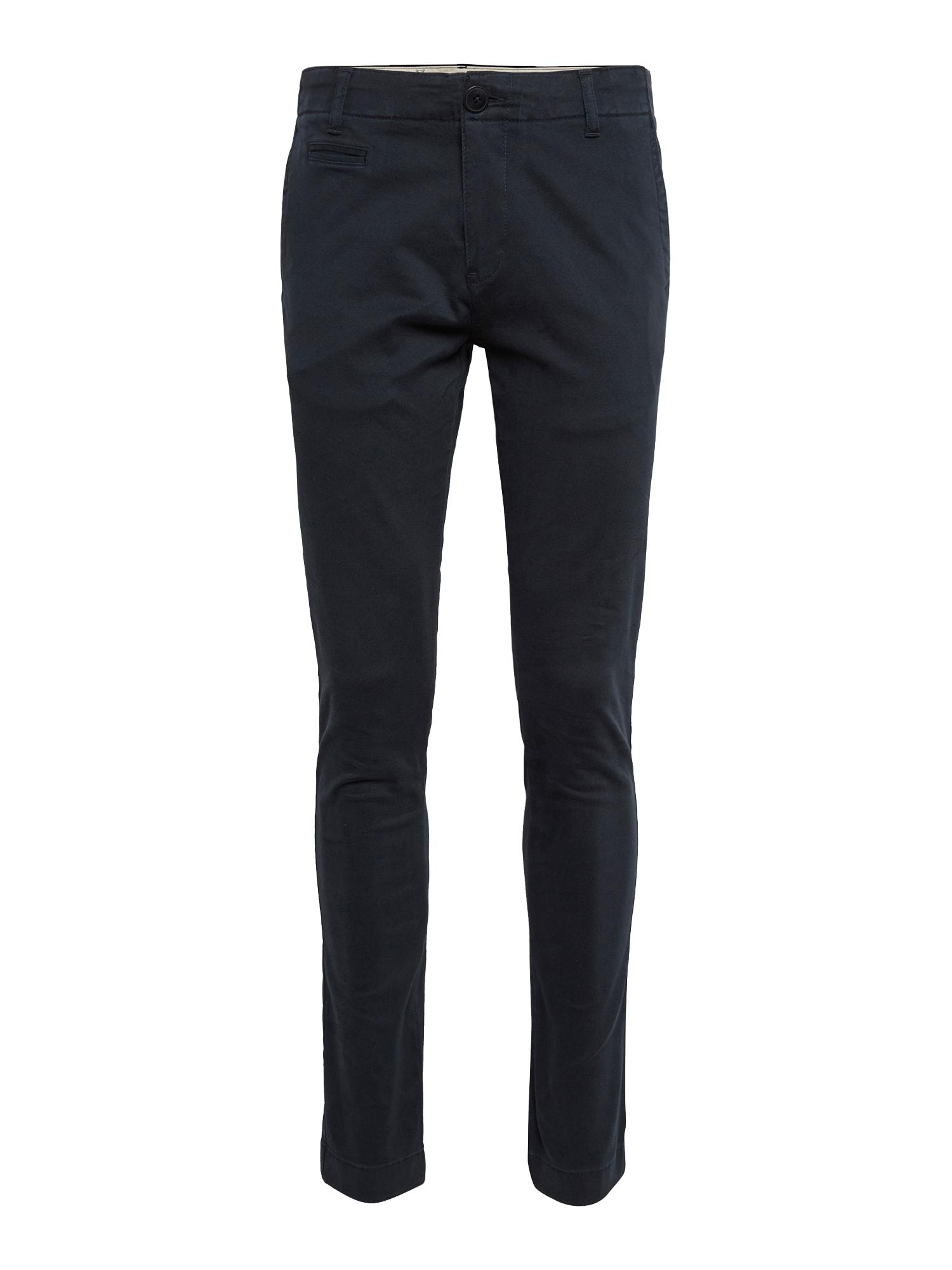 Chino kalhoty Pistol Joe tmavě modrá KnowledgeCotton Apparel