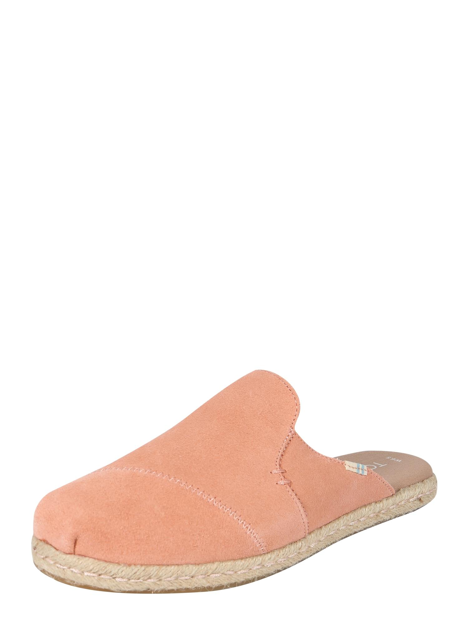 Pantofle NOVA korálová TOMS