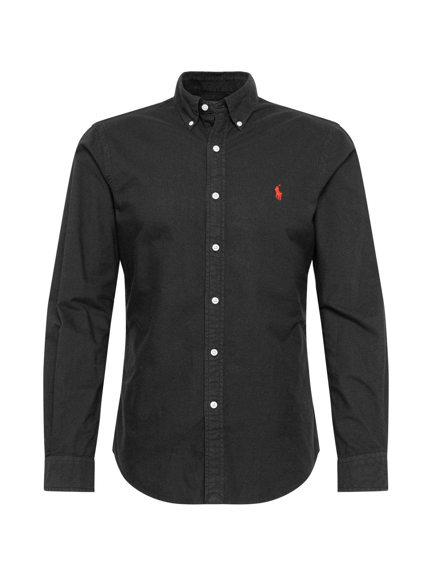 POLO RALPH LAUREN Dalykinio stiliaus marškiniai juoda