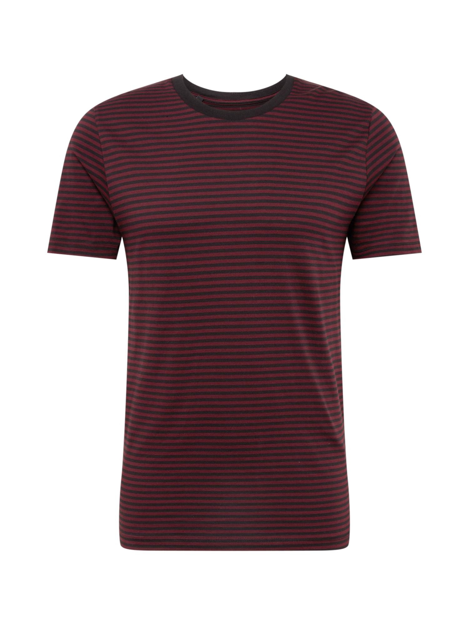 Tričko vínově červená černá SELECTED HOMME