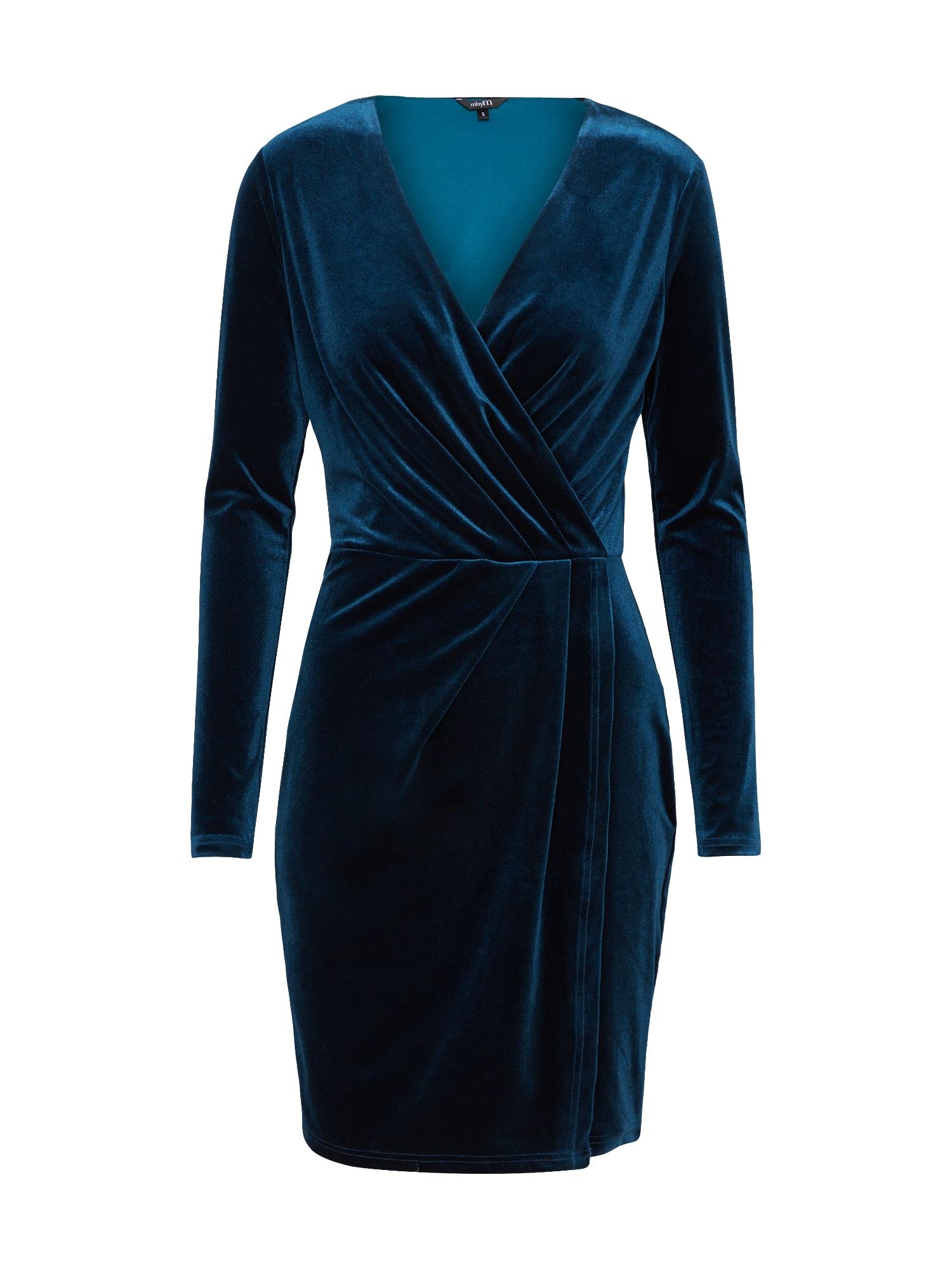 Koktejlové šaty Madena modrá noční modrá Mbym